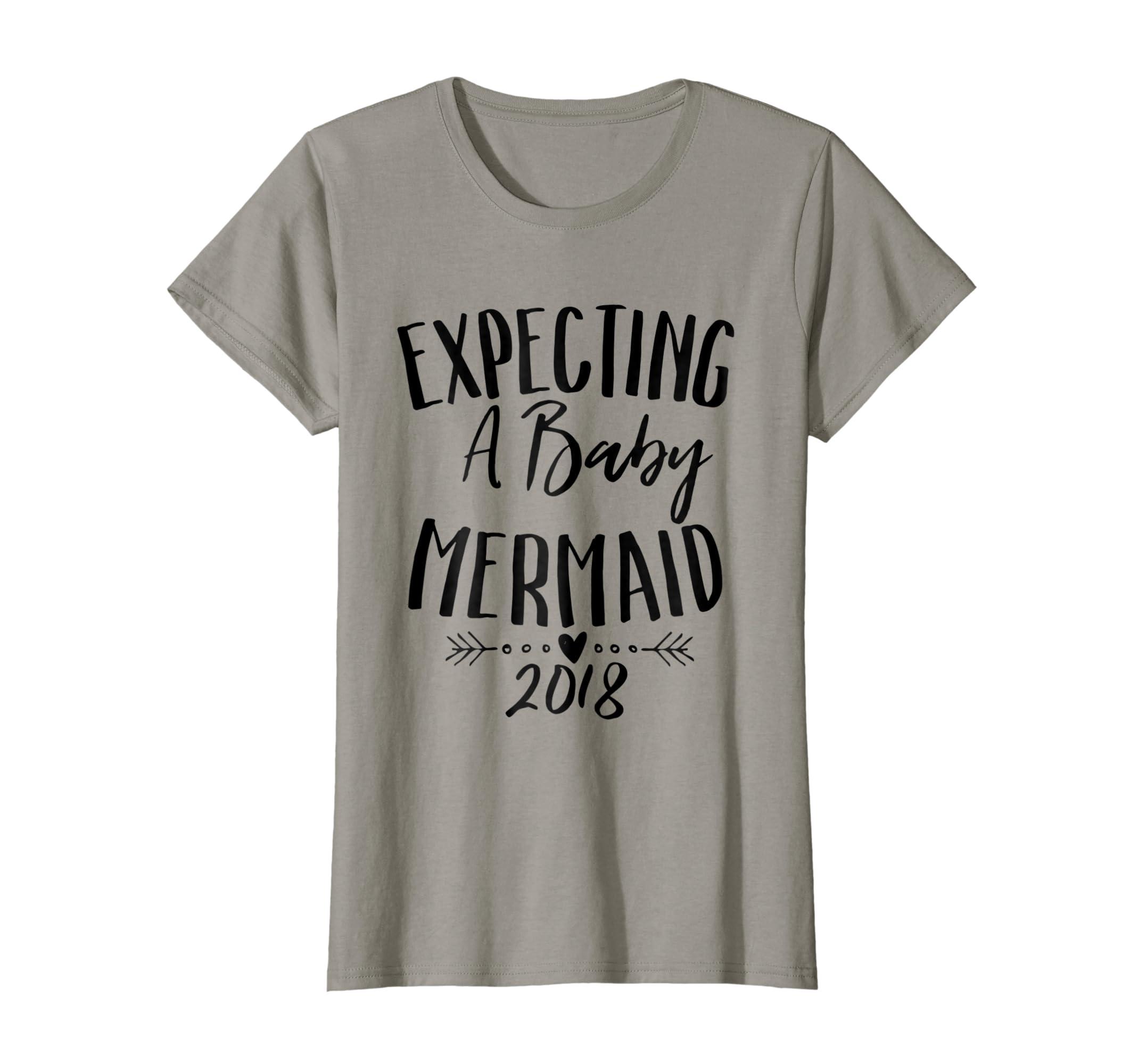 9bc72236c8624 Amazon.com: Expecting A Baby Mermaid Shirt 2018 Pregnancy Cute Tee: Clothing