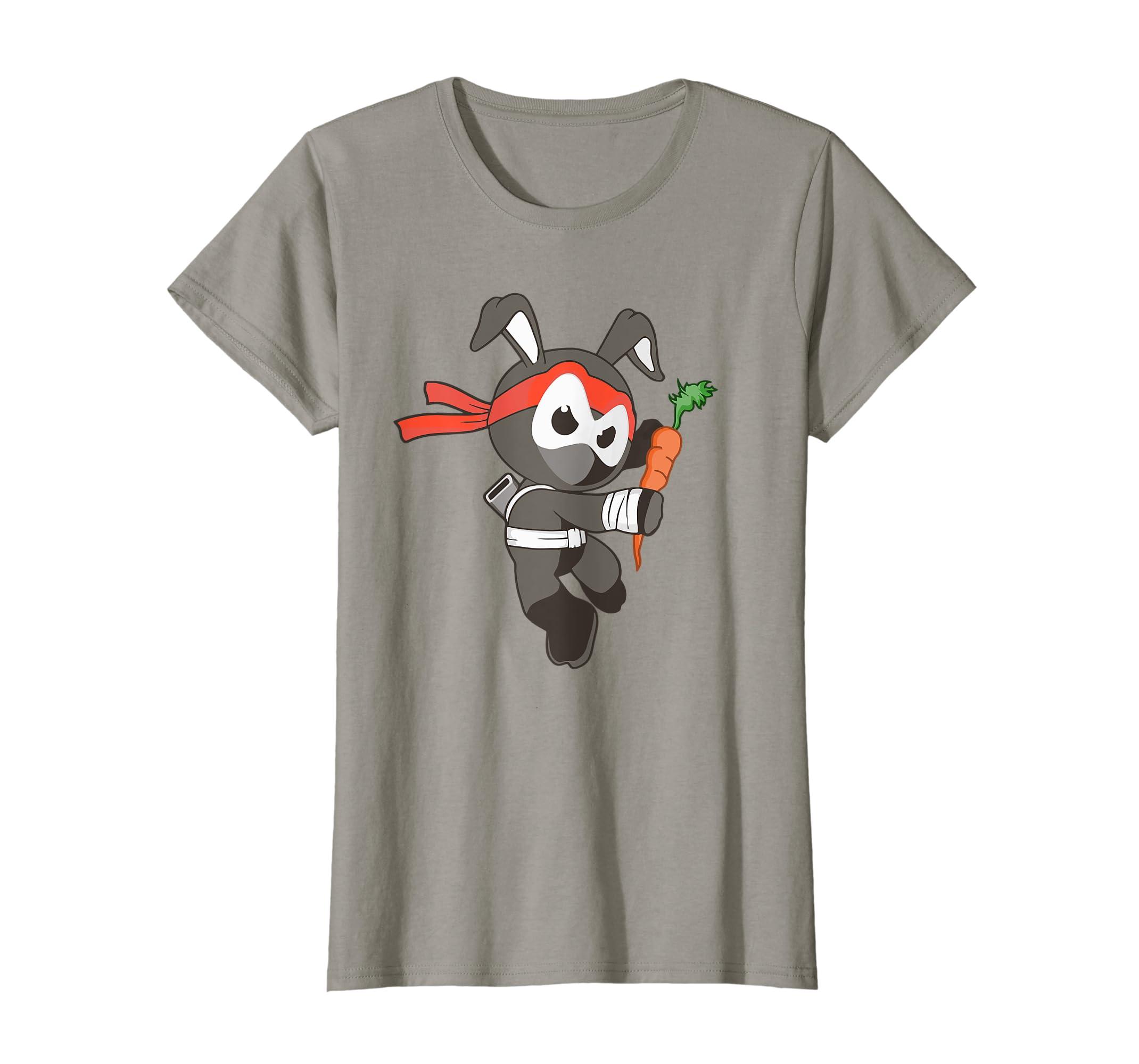 Amazon.com: Ninja Rabbit Shirt, Fun Martial Arts Bunny Tee ...