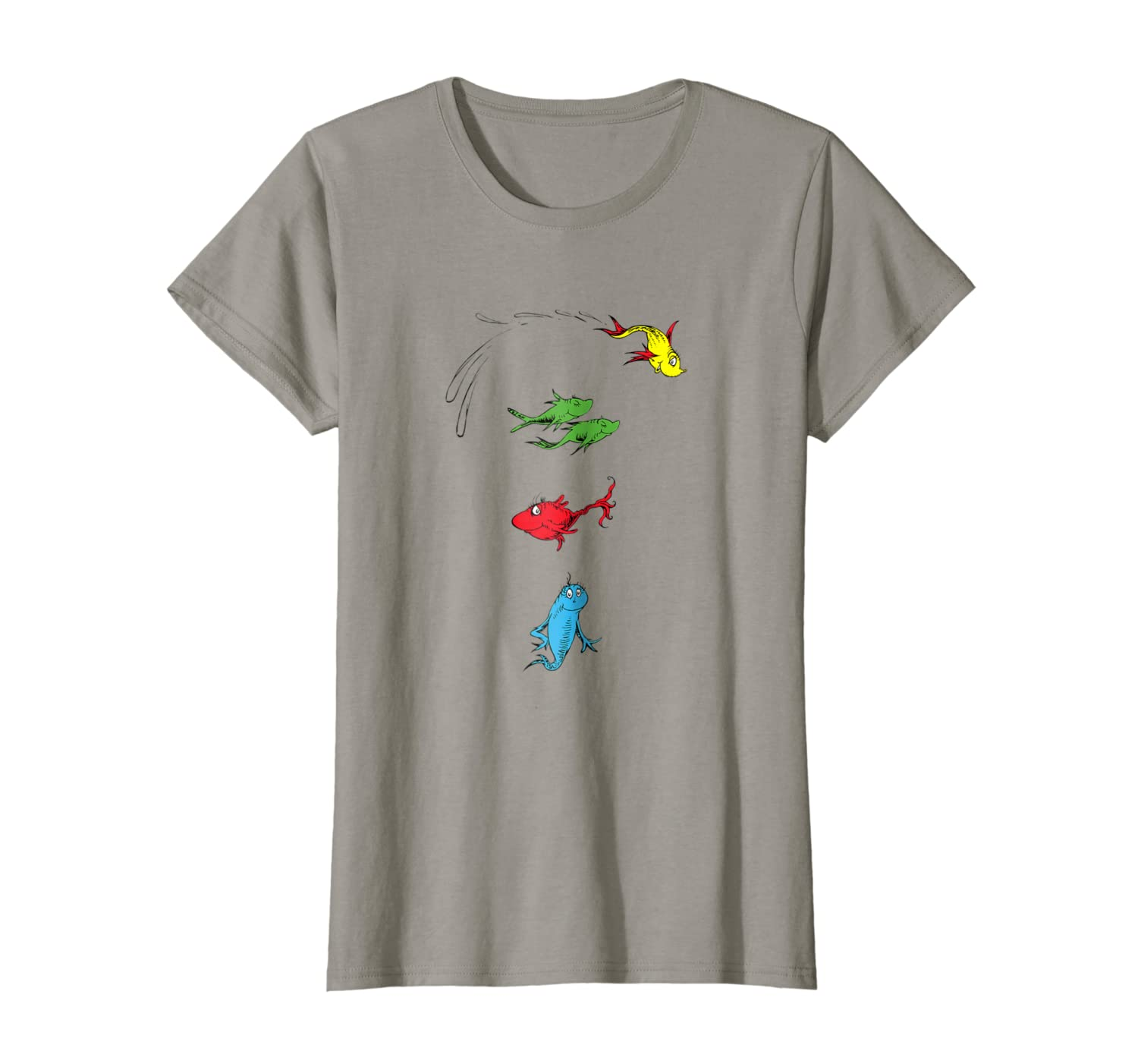 e7f79dff6 Amazon.com: Dr. Seuss One Fish Two Fish Red Fish Blue Fish T-shirt: Clothing