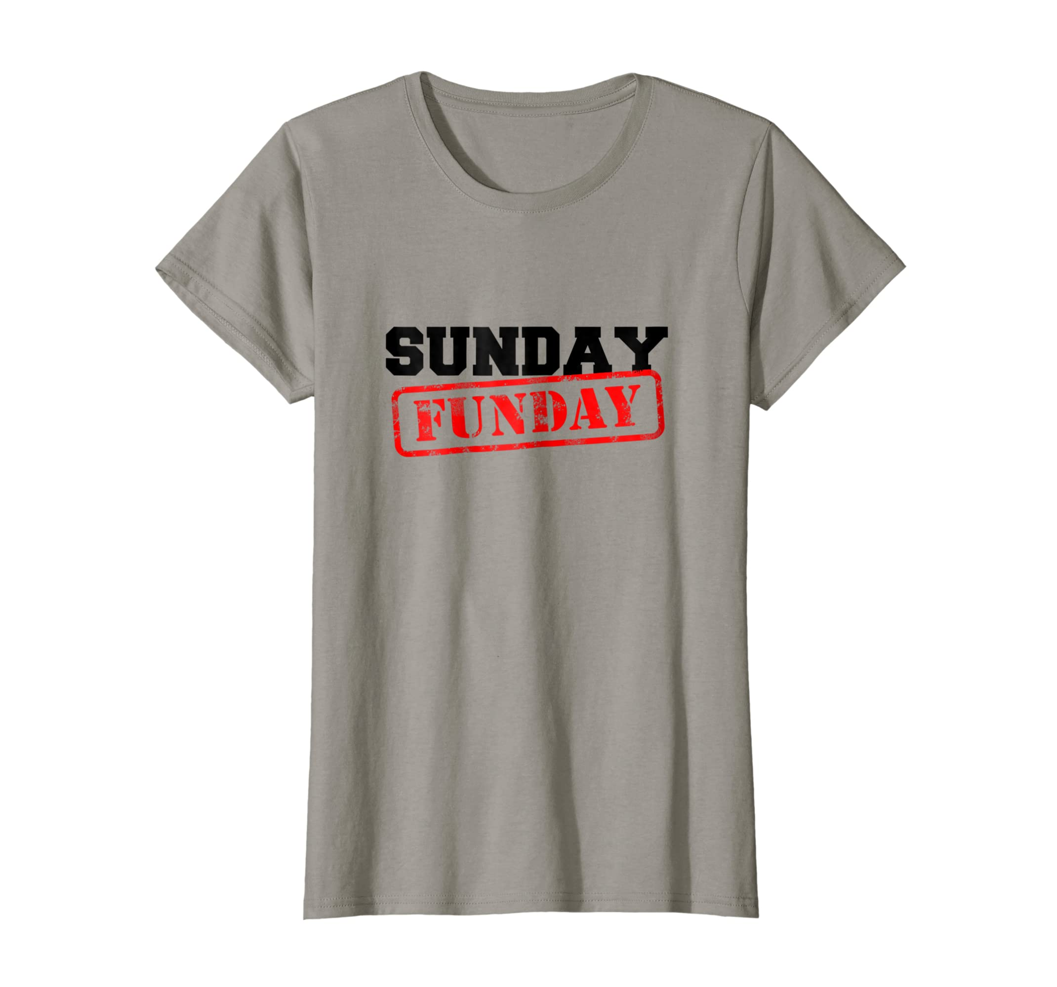 3fa68cc7e Amazon.com: Sunday Funday T-Shirt - Distressed Stamp Design, Men & Women:  Clothing