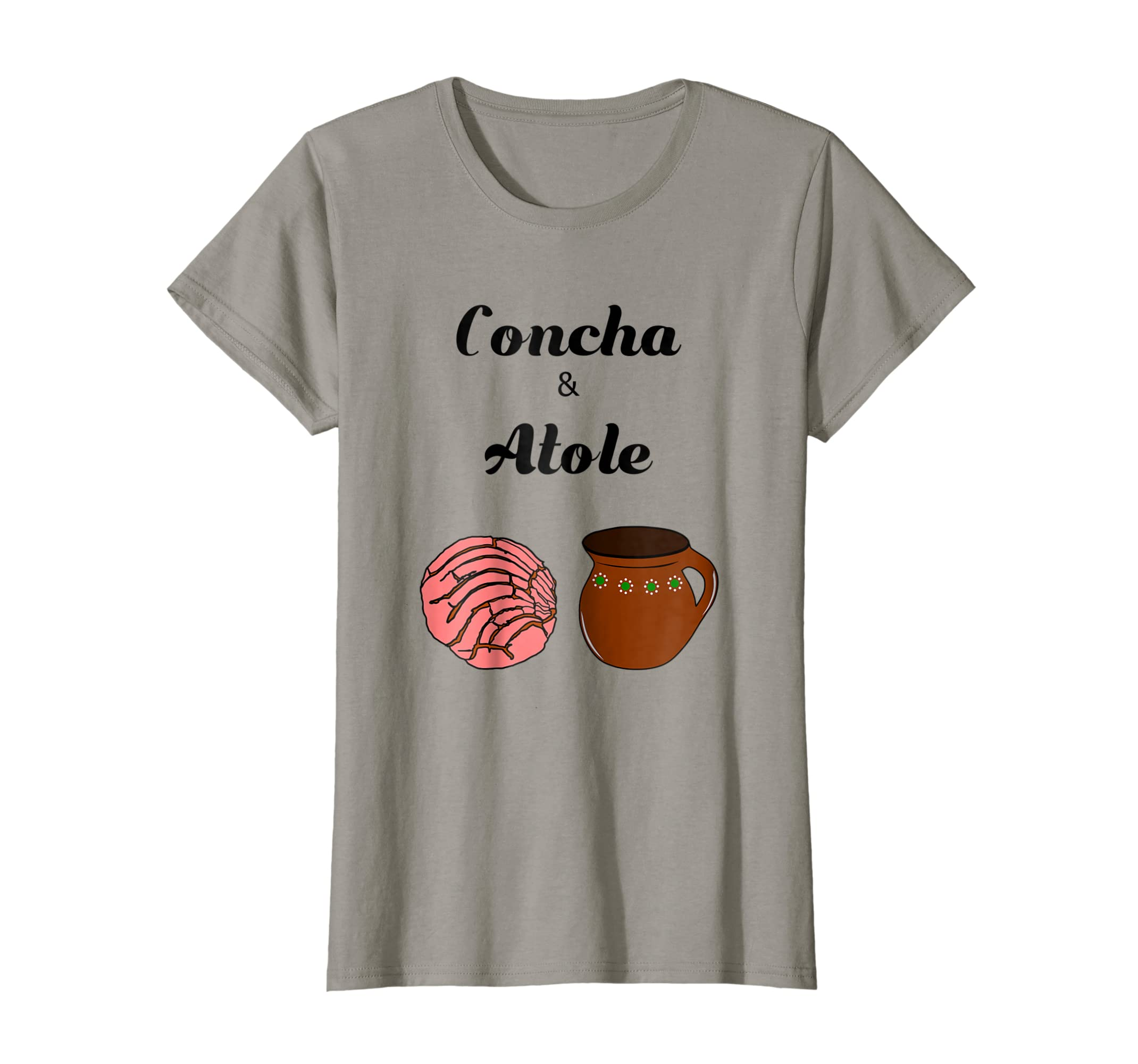 Amazon.com: Concha & Atole Mexican Bread Beverage Pan Dulce T-Shirt: Clothing