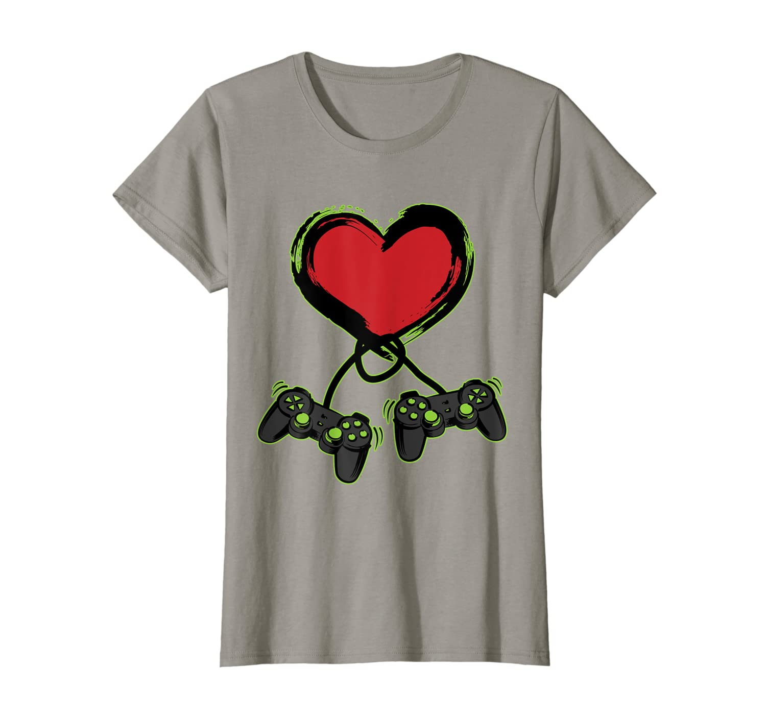 c1e9d2bdb Amazon.com: Video Gamer Heart Controller Valentine's Day Shirt Kids Boys:  Clothing