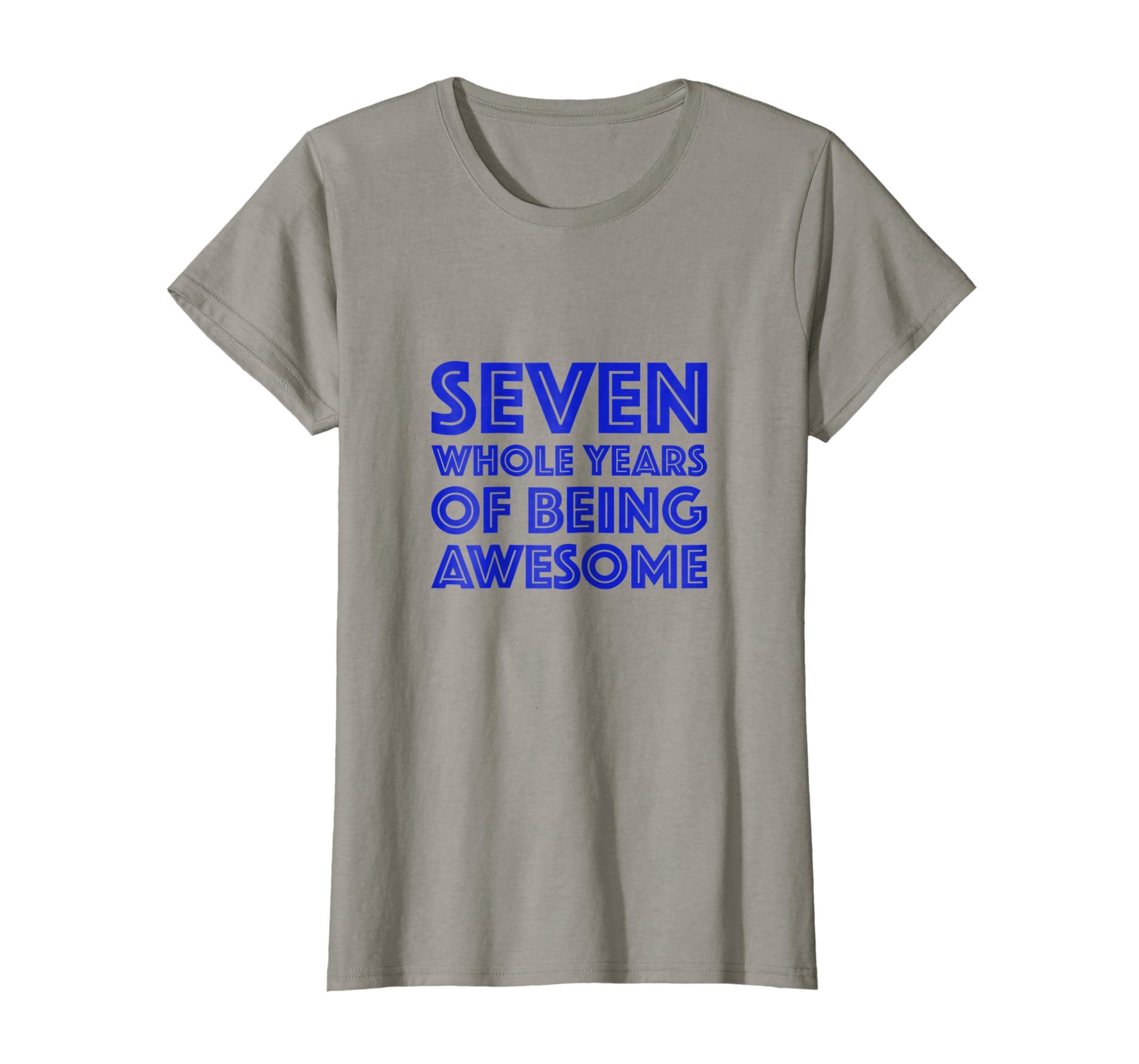 Amazon 7th Birthday Shirt Gift Boys Age 7 Seven Year Old Boy Son Clothing