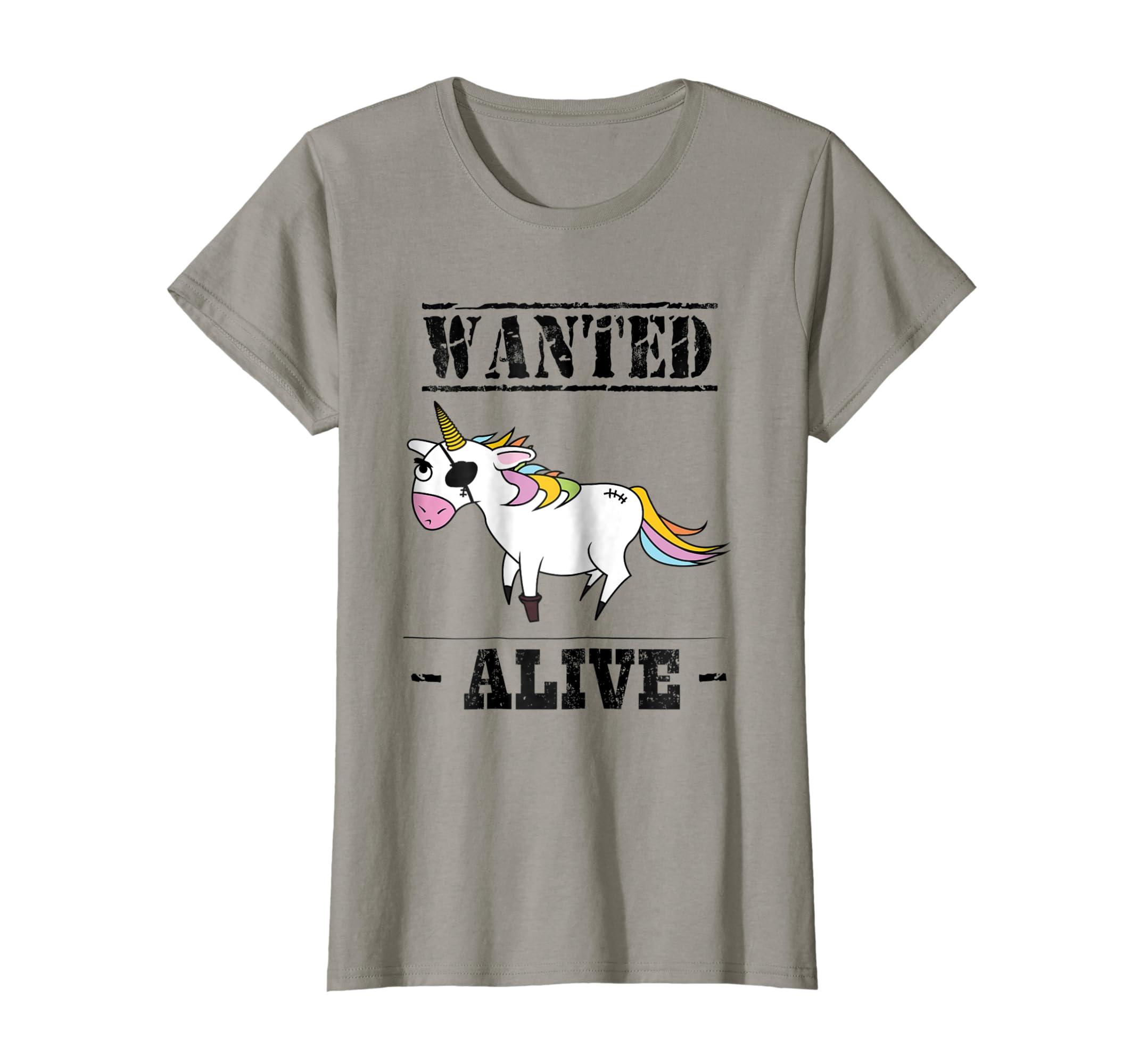 c41a143952 Amazon.com: Funny Unicorn T Shirt Cute Wanted Unicorn Alive Kids Adults:  Clothing