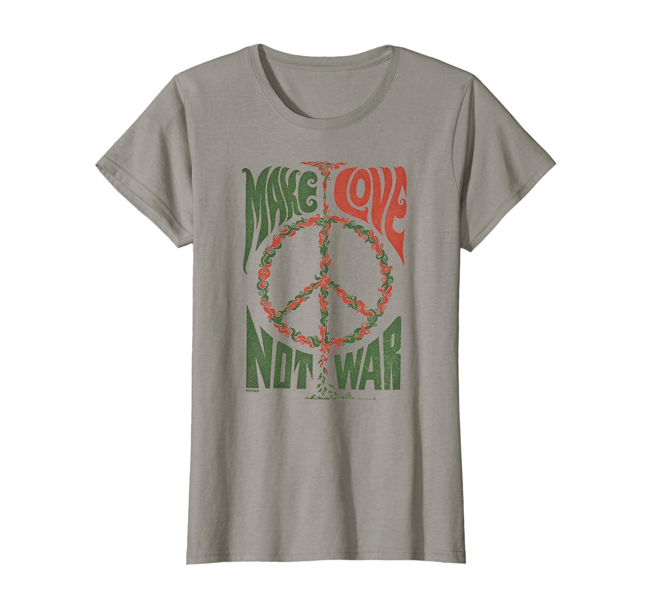 92740798d Amazon.com: Make Love Not War Peace Vintage T- Shirt: Clothing