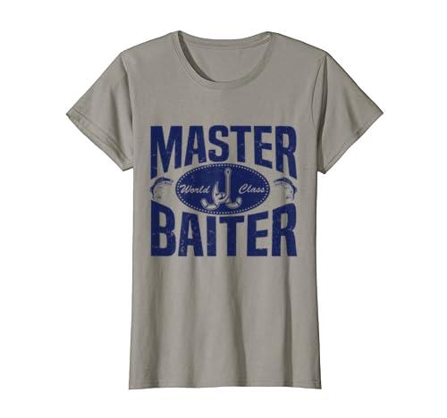 ac6b282c Amazon.com: World Class Master Baiter Fishing Bait T-Shirt: Clothing