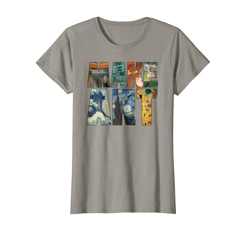 fa25719b Amazon.com: MAKE ART | Funny Artist Artistic Humor Painting Cool T-shirt:  Clothing