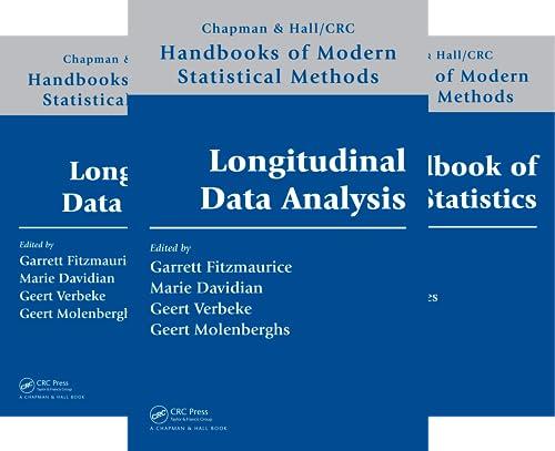 Chapman & Hall/CRC Handbooks of Modern Statistical Methods (24 Book Series)