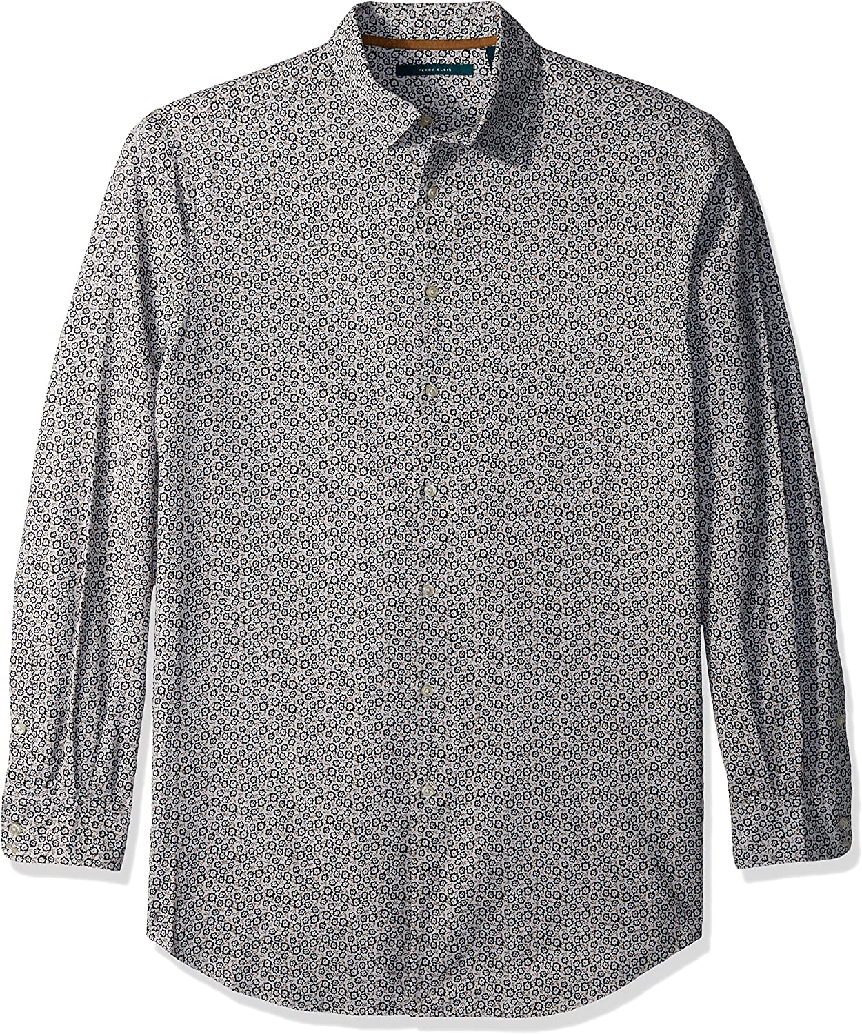 Perry Ellis Men's Big and Tall Big & Tall Graphed Floral Oxford Shirt
