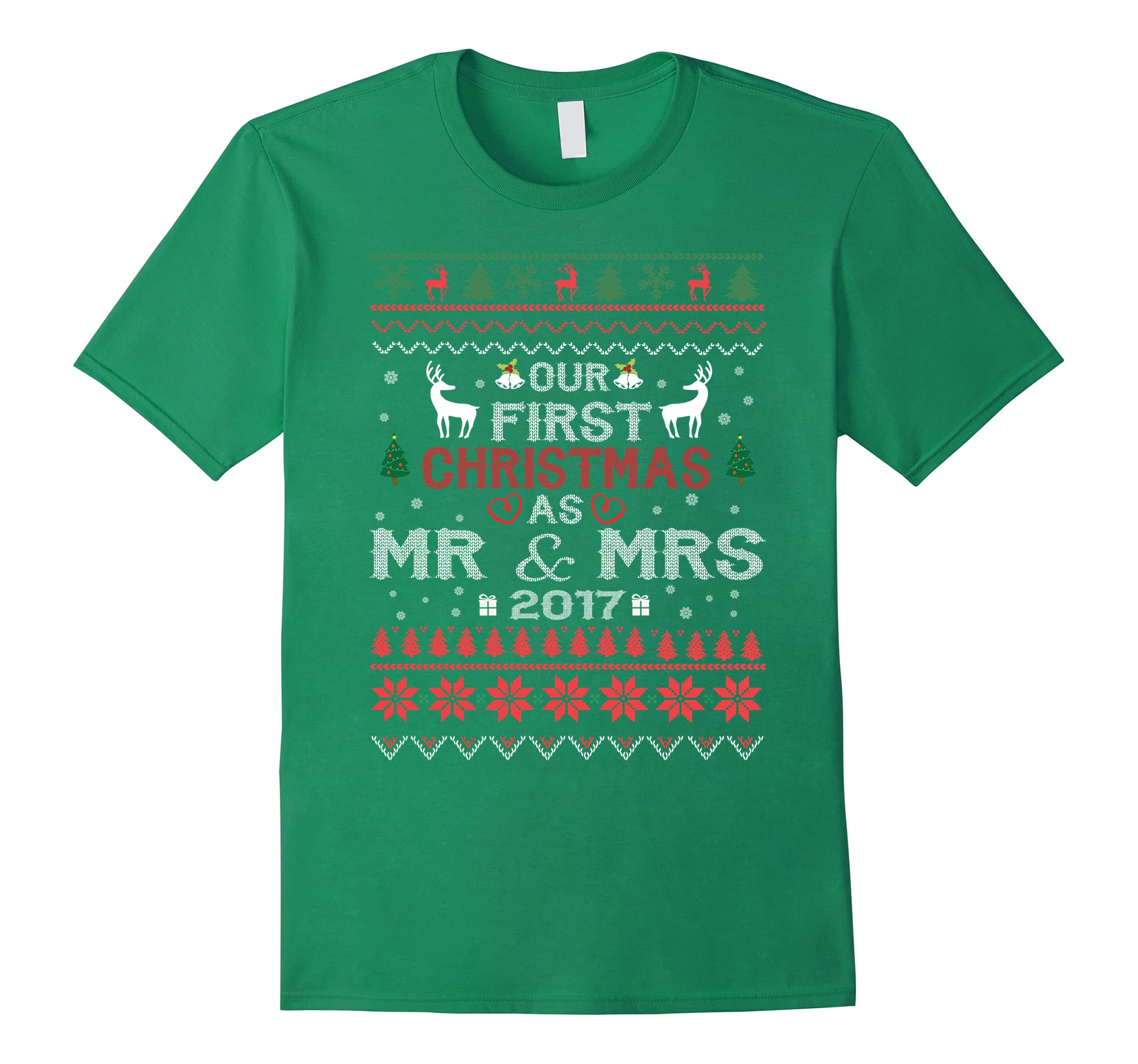 Our First Christmas as Mr & Mrs Tshirt Couple Wife Husband-RT