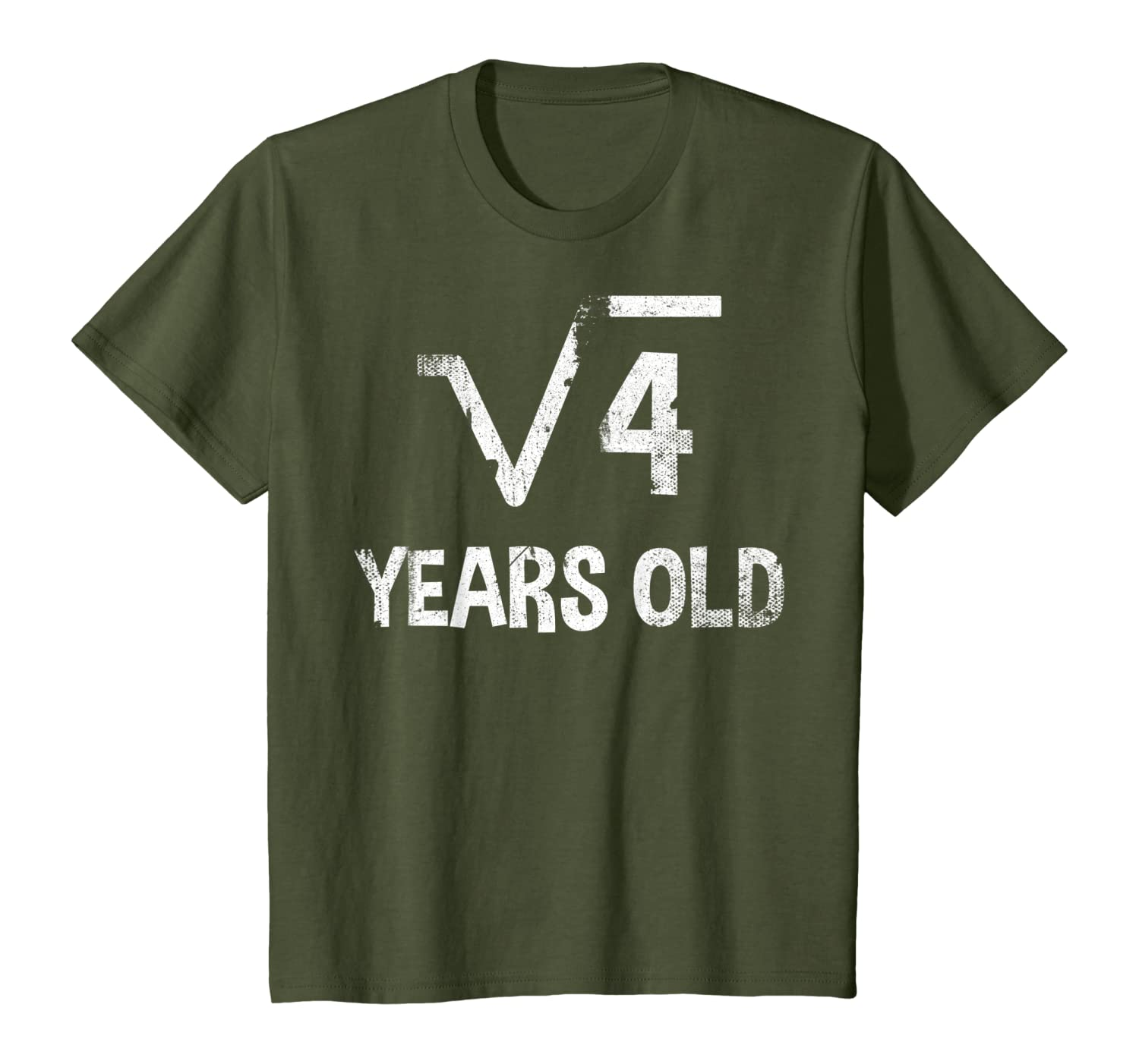 Kids Square Root of 4 – 2nd Birthday T-shirt 2 Years Old T-Shirt