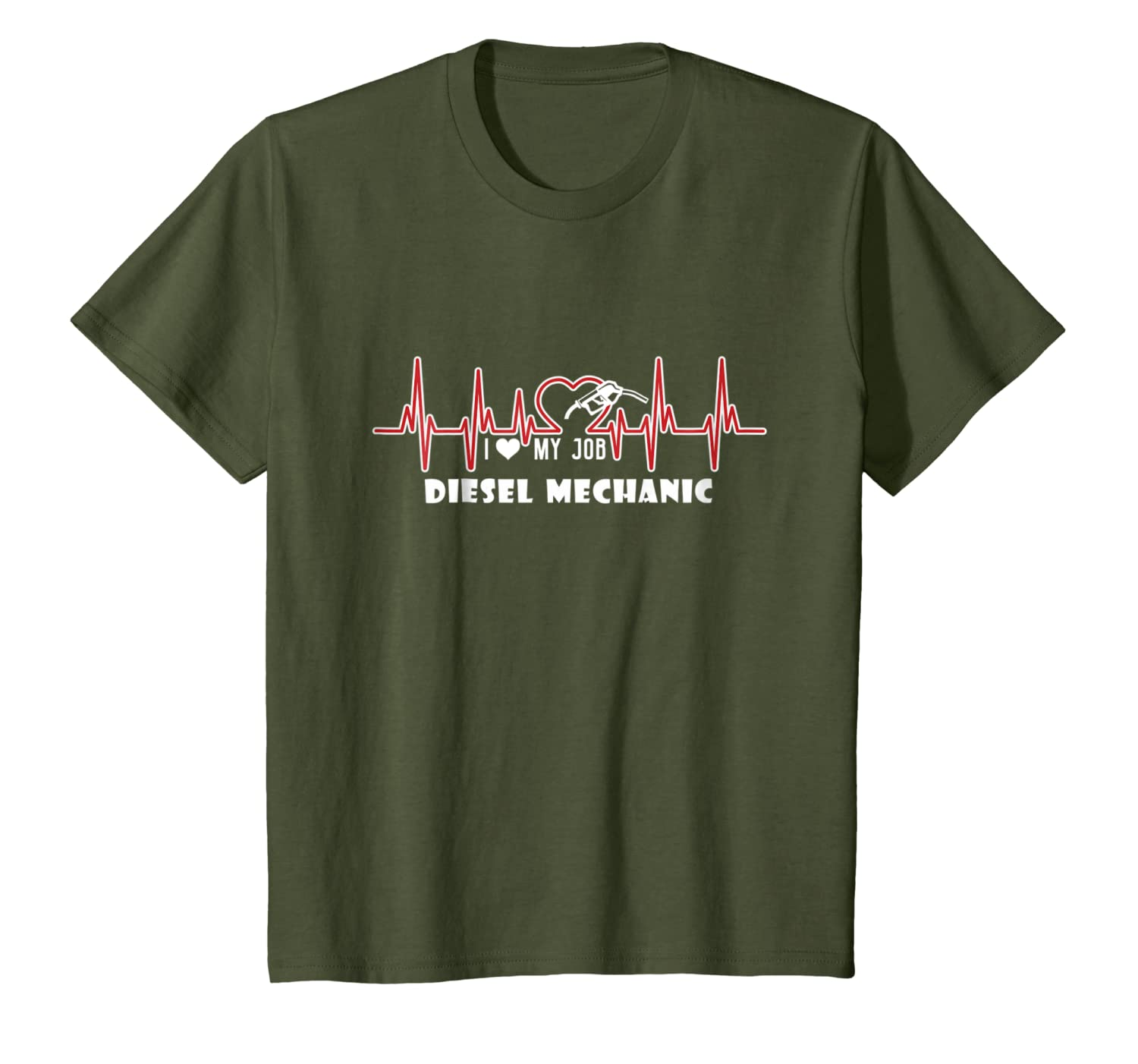 Diesel Mechanic Shirts – Diesel Mechanic Heart T shirt