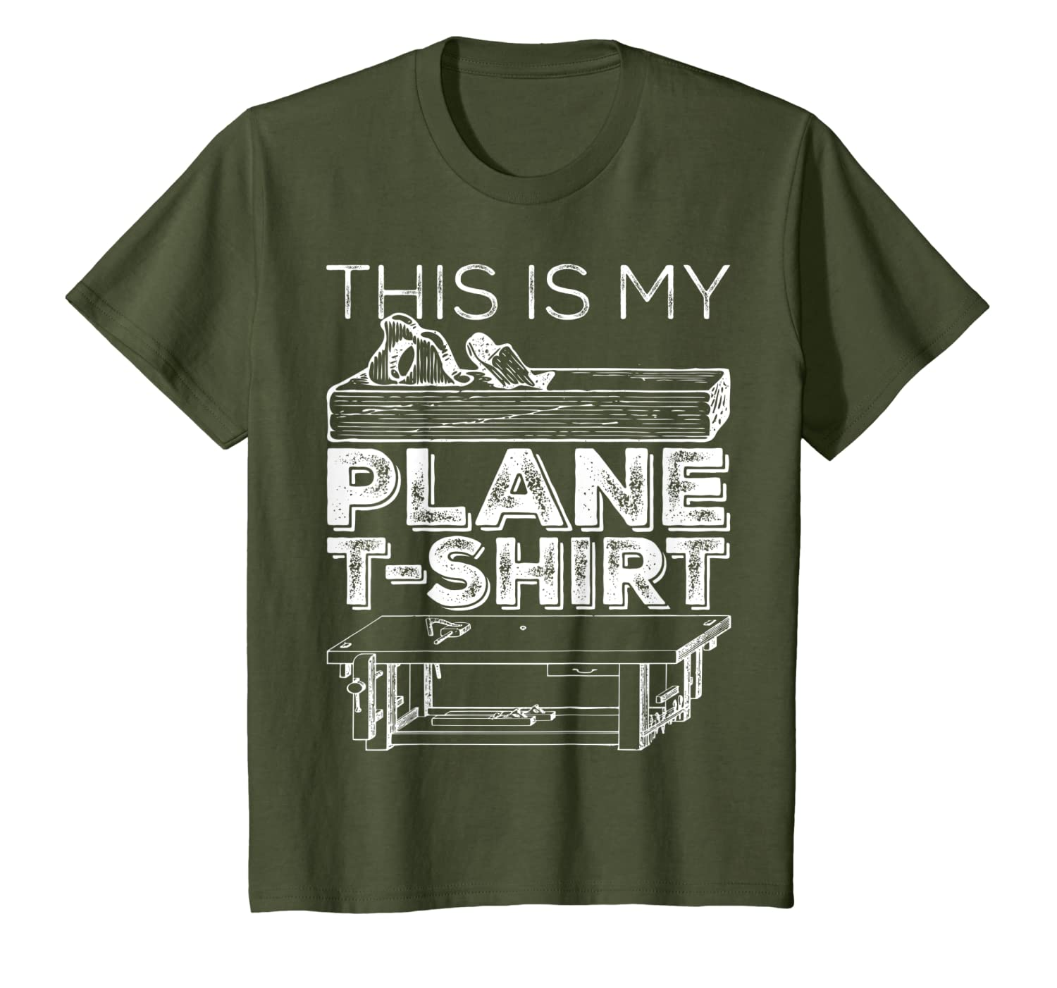 This Is My Plane Woodworking Carpentry Tools T-Shirt