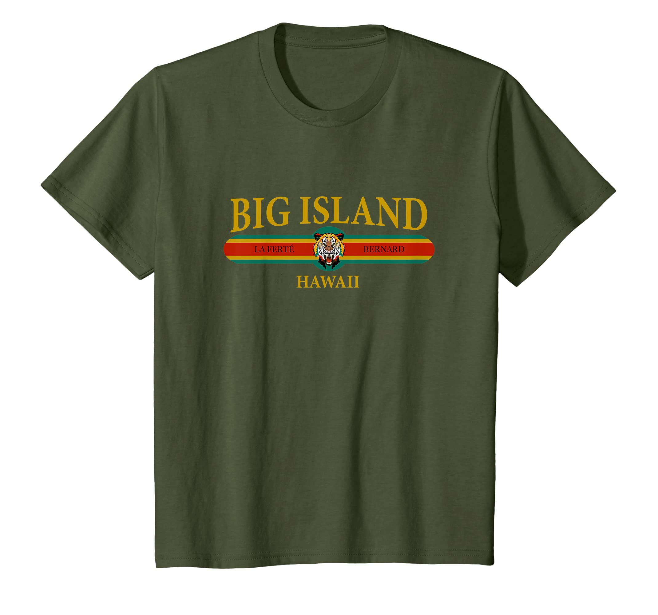 cefb337db1 Amazon.com: Big Island Hawaii T-shirt | Short Sleeve Graphic Tee ...