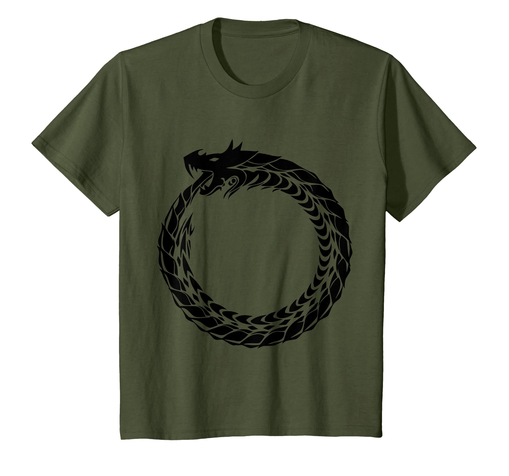 0af9cc3c Amazon.com: Ouroboros T-Shirt Snake Eating Tail Ancient Symbol Tee: Clothing