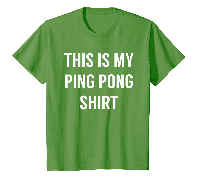 Amazon.com: Este es mi ping pong de manga corta – Funny ...
