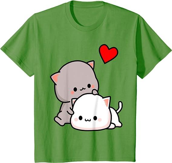 Black Novelty Unisex Lightweight AZSTEEL Mochi Peach Cat Goma Love is Kind Hugs Kisses Valentine Pullover Hoodie