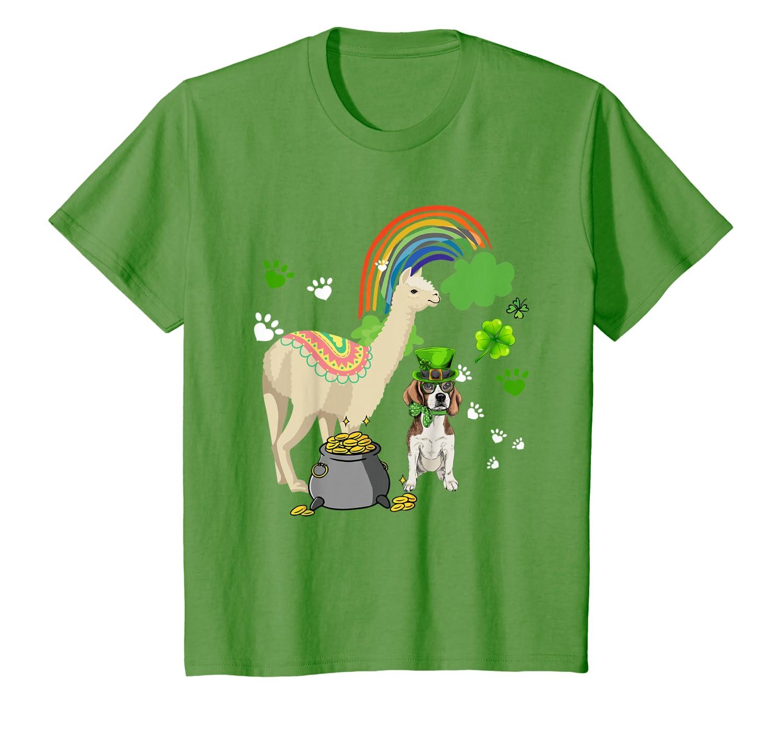 Beagle And Llama Happy St Patricks Day Gift Dog Lover T-shirt - Store Shirt