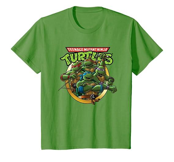 Amazon.com: Camiseta clásica de grupo y logo de las Tortugas ...
