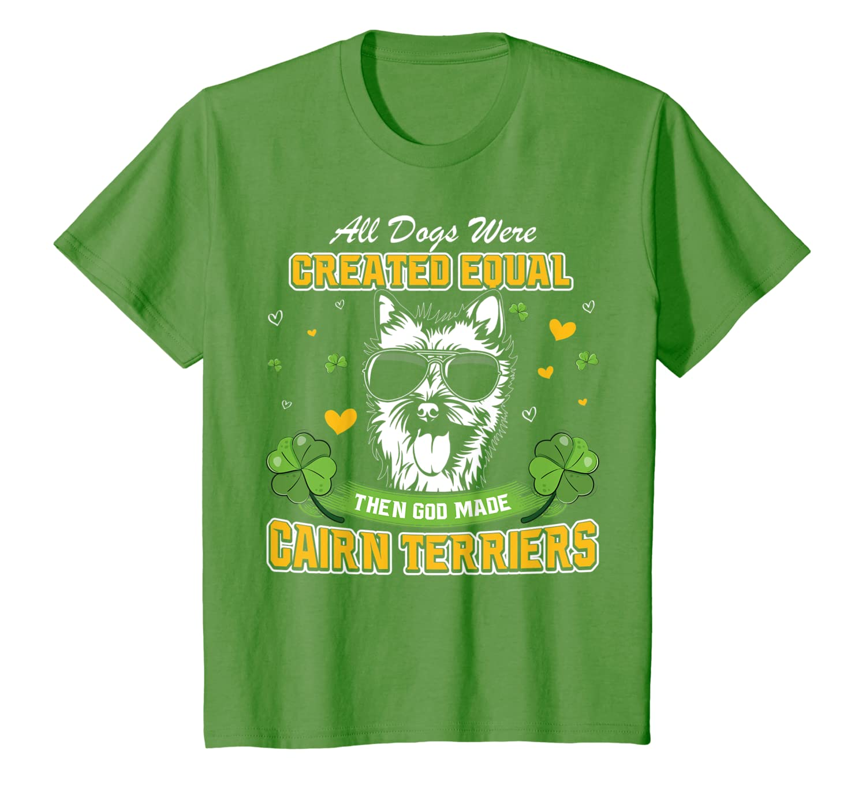 St Patricks Day Irish Shamrock Clover lucky Cairn Terriers T-Shirt Unisex Tshirt