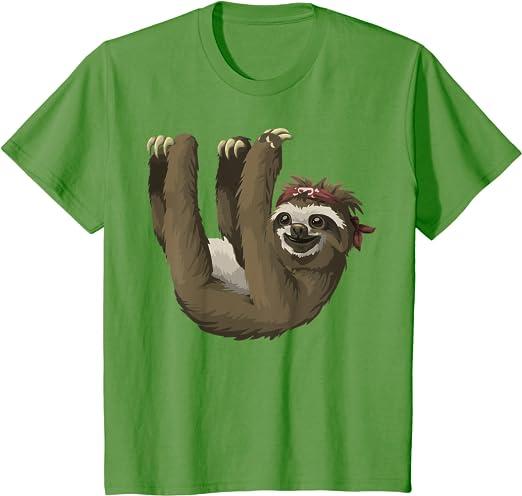 1Tee Kids Boys Sleeping Superhero Sloth  T-Shirt