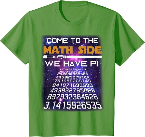 Eco-Friendly Circle of Pi Crop Top Organic /& Recycled Cotton-Math Shirt-Black-Made to Order for Pi Day