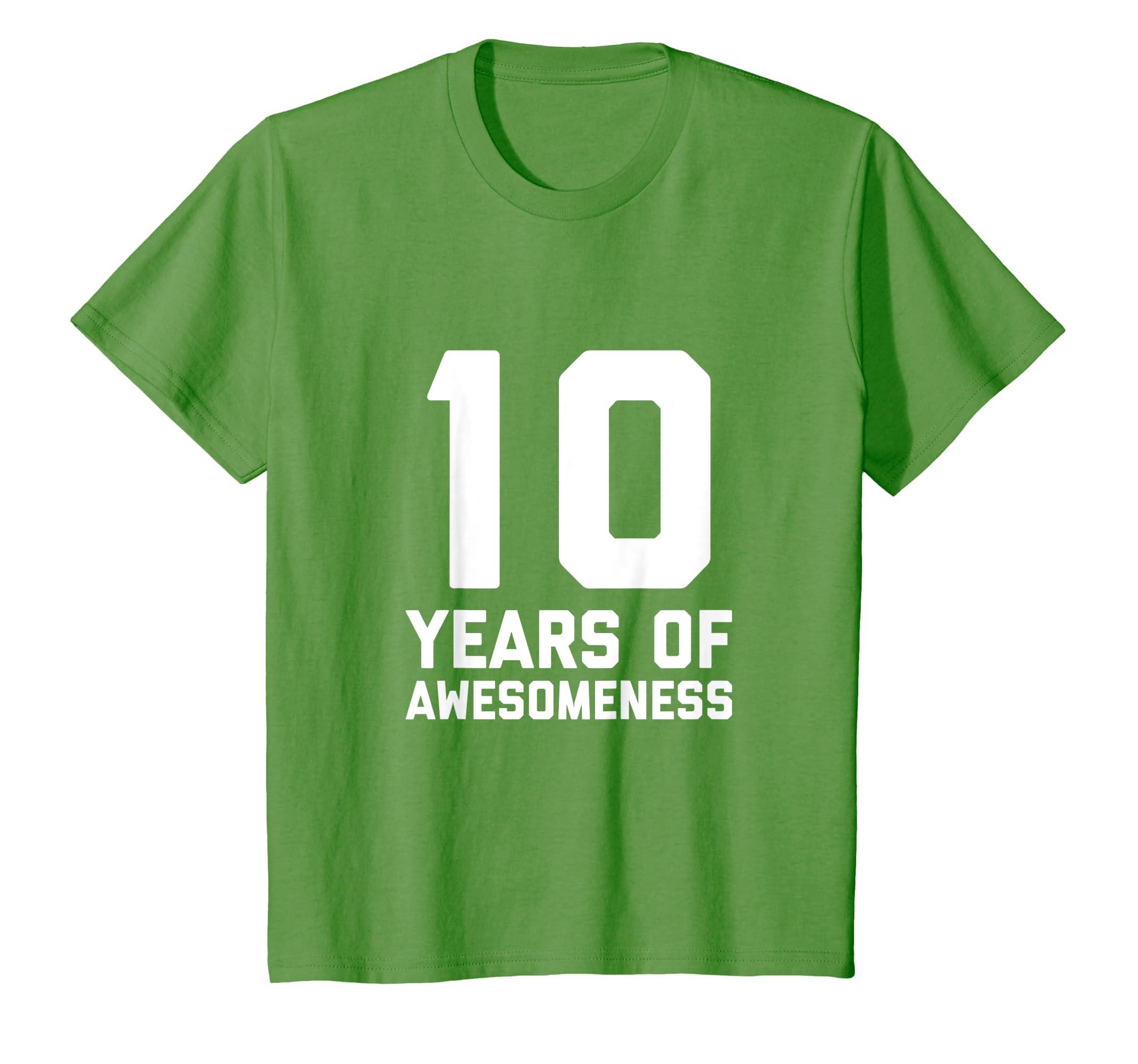 Amazon 10th Birthday Shirt Gift Ten Age 10 Year Old Boy Girl Son Clothing