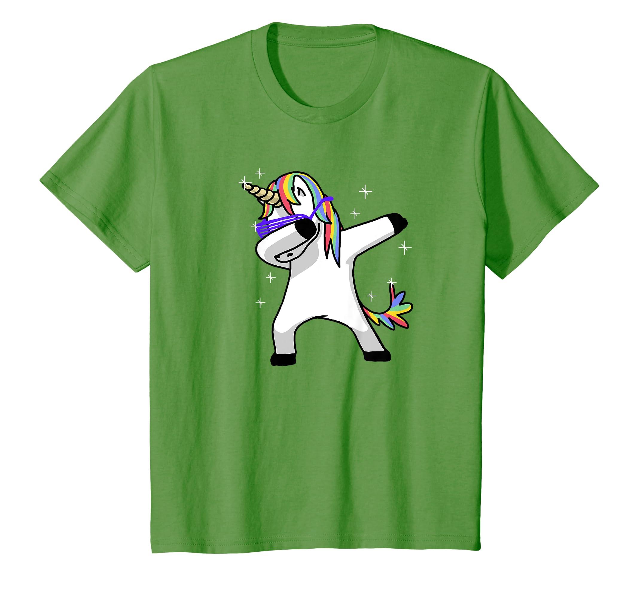 b77e45a5 Amazon.com: Dabbing Unicorn Shirt Dab Hip Hop Funny Magic: Clothing