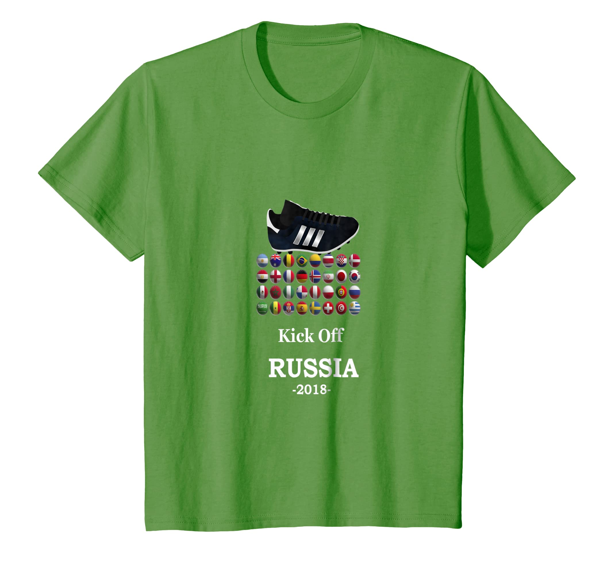 5236a87c4 Amazon.com  Kids World Football Tshirt- Russia 2018 Cup Soccer Shirt   Clothing