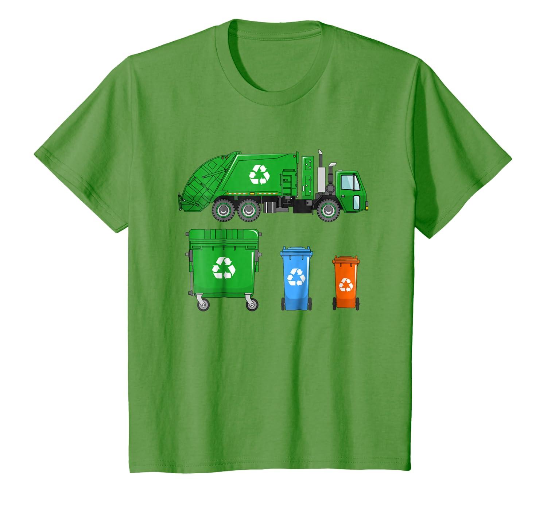 fd3b9834a Amazon.com: Kids Garbage Truck Shirt - Trash Truck Shirt - With Dumpsters:  Clothing