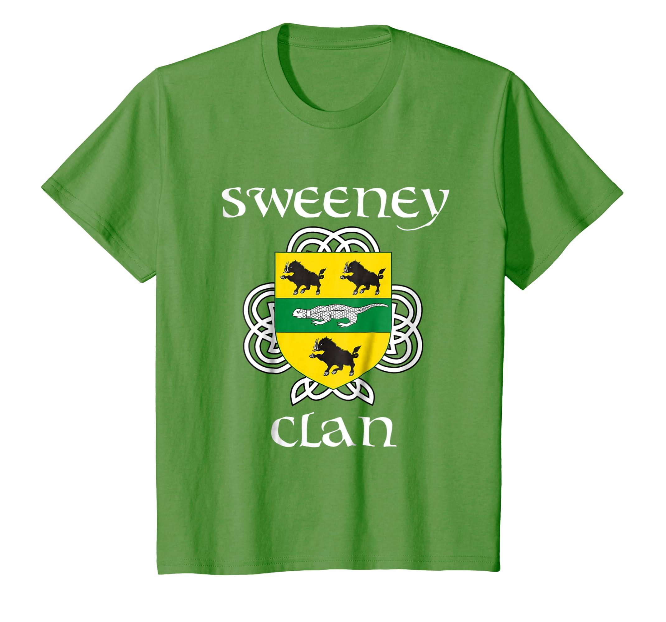 Amazon sweeney family crest shirt irish reunion t shirt clothing altavistaventures Images
