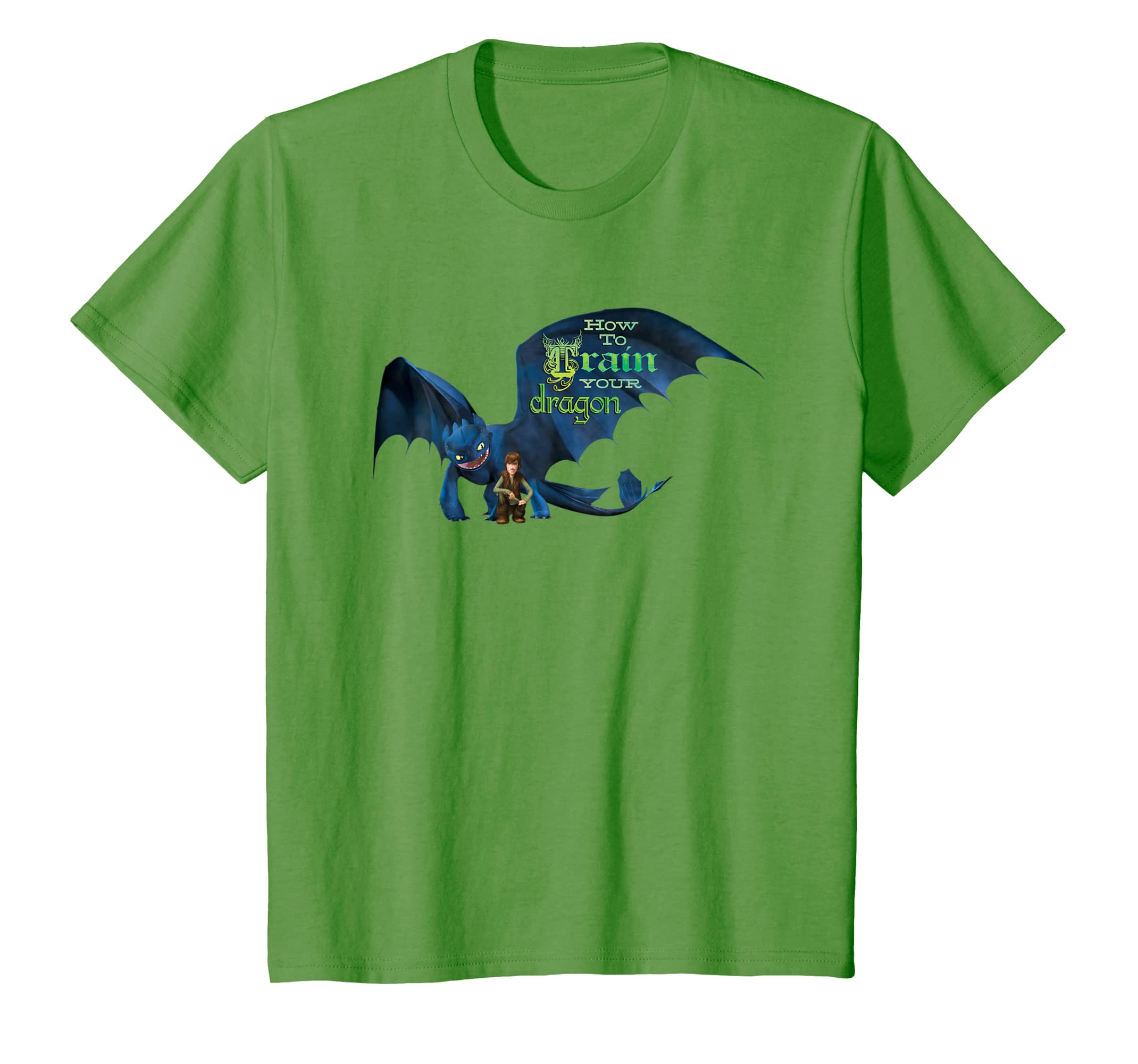 6efa7fa65 Amazon.com: Kids DreamWorks' Dragons: Toothless and Hiccup Title T-Shirt:  Clothing