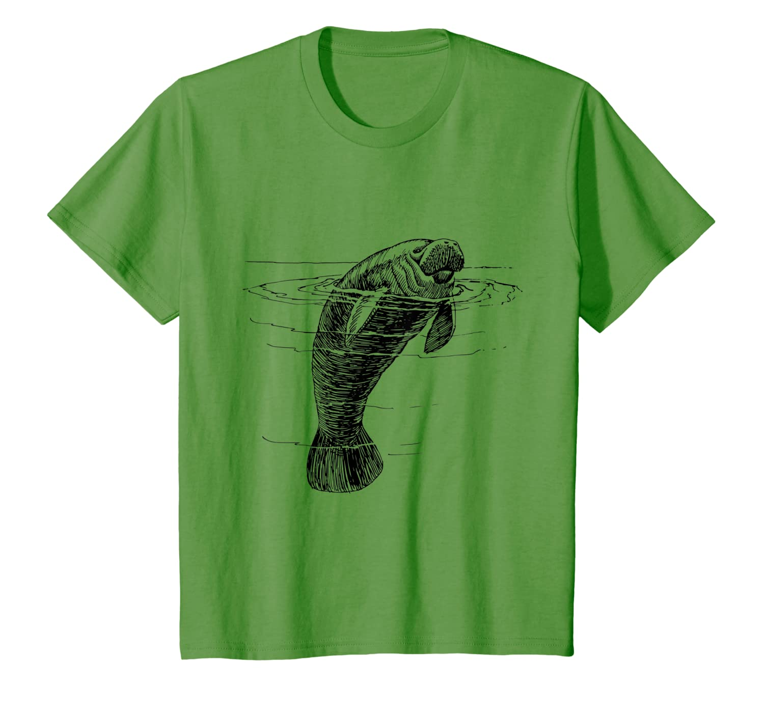 77b250f3c0f6 Amazon.com: Manatee Shirt Florida Spring Manatees Souvenir T-Shirt: Clothing