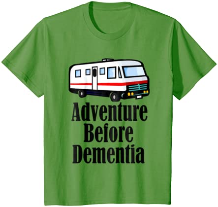 Ace Personalised Camper van On Adventure Before Dementia Camping Touring T-Shirt