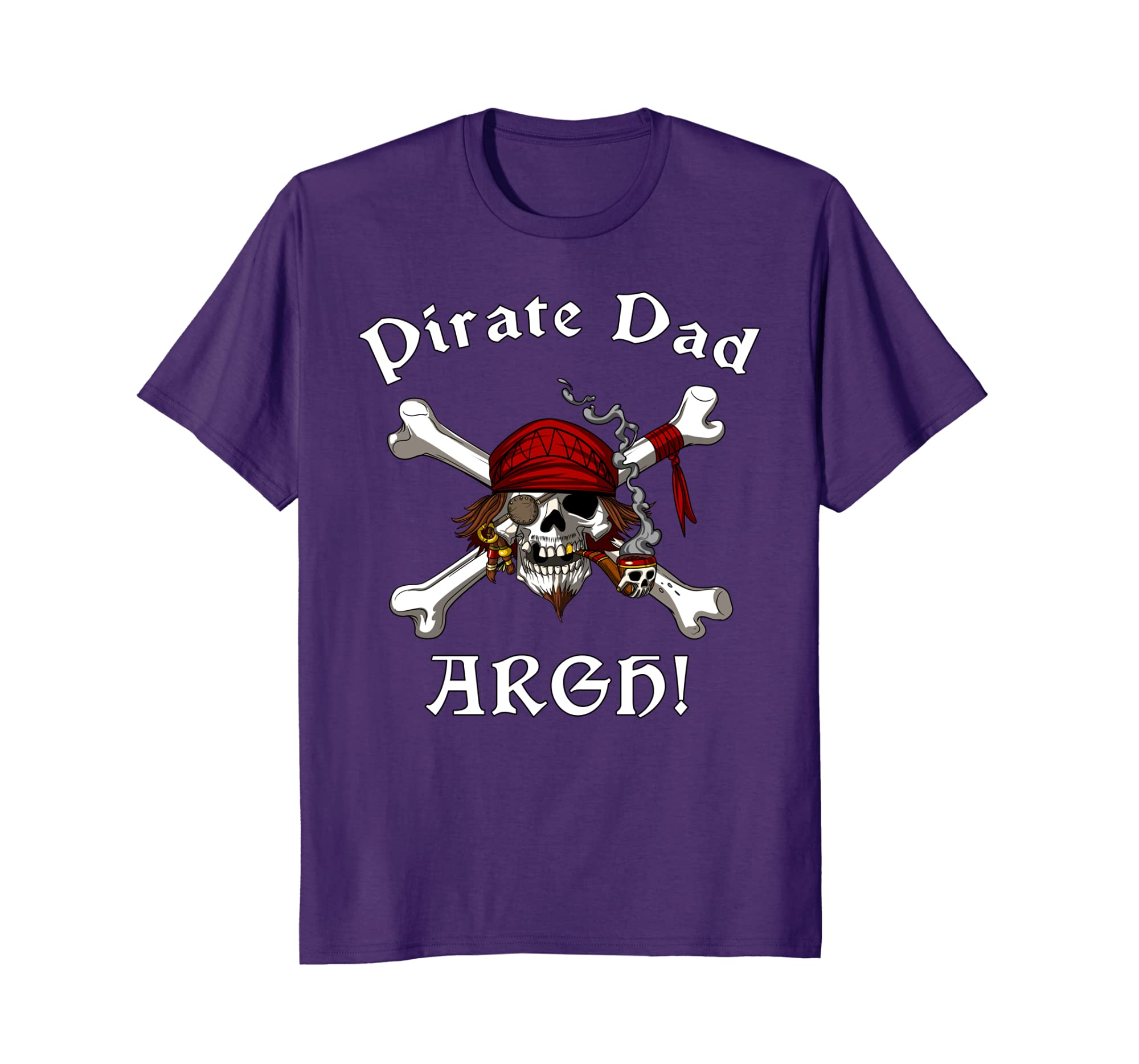 Pirate Shirt Fathers Crossbones Skull Captain For Dad