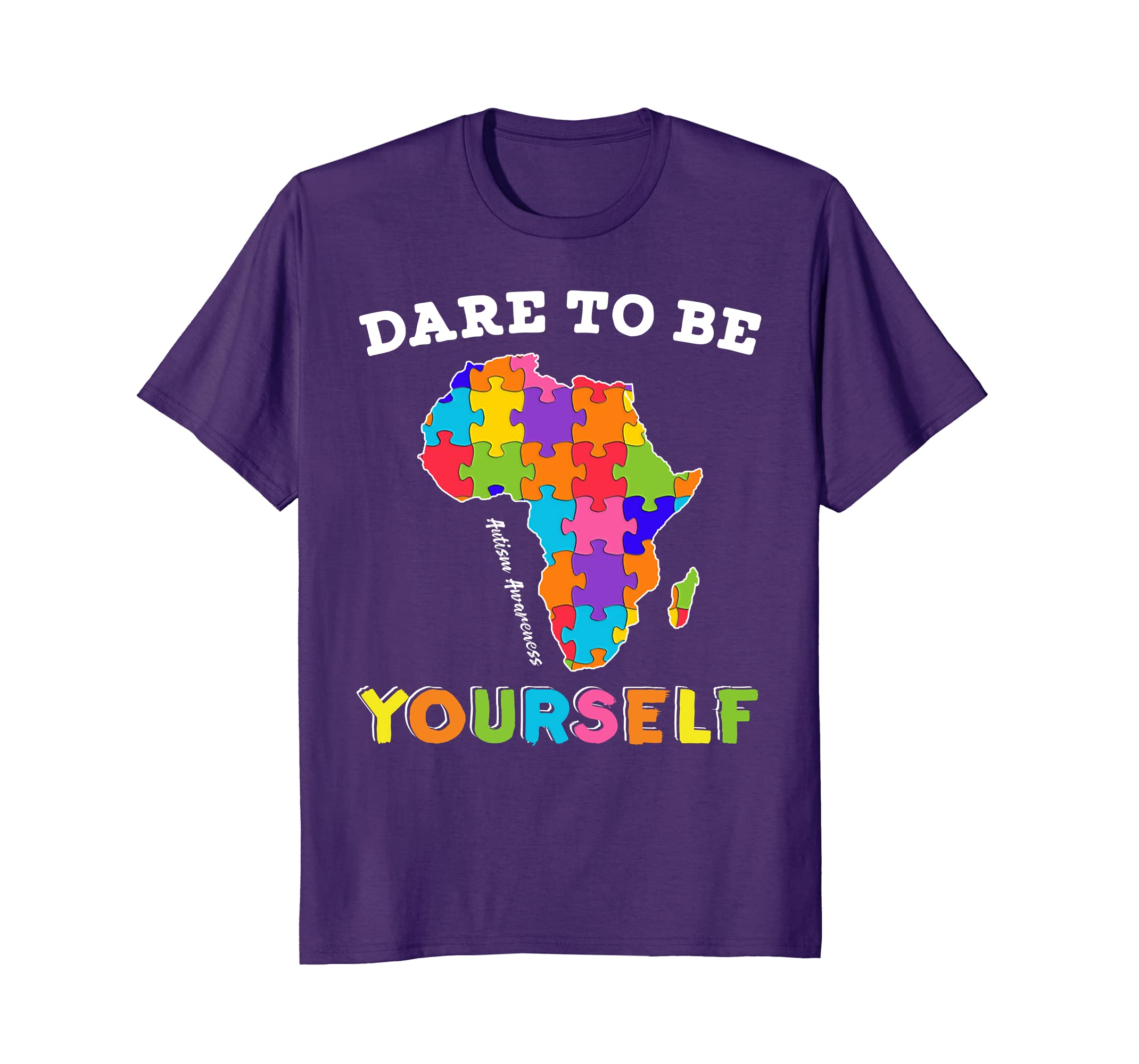 Afro Autism Awareness Dare to be Yourself Kid T-Shirt-ah my shirt one gift