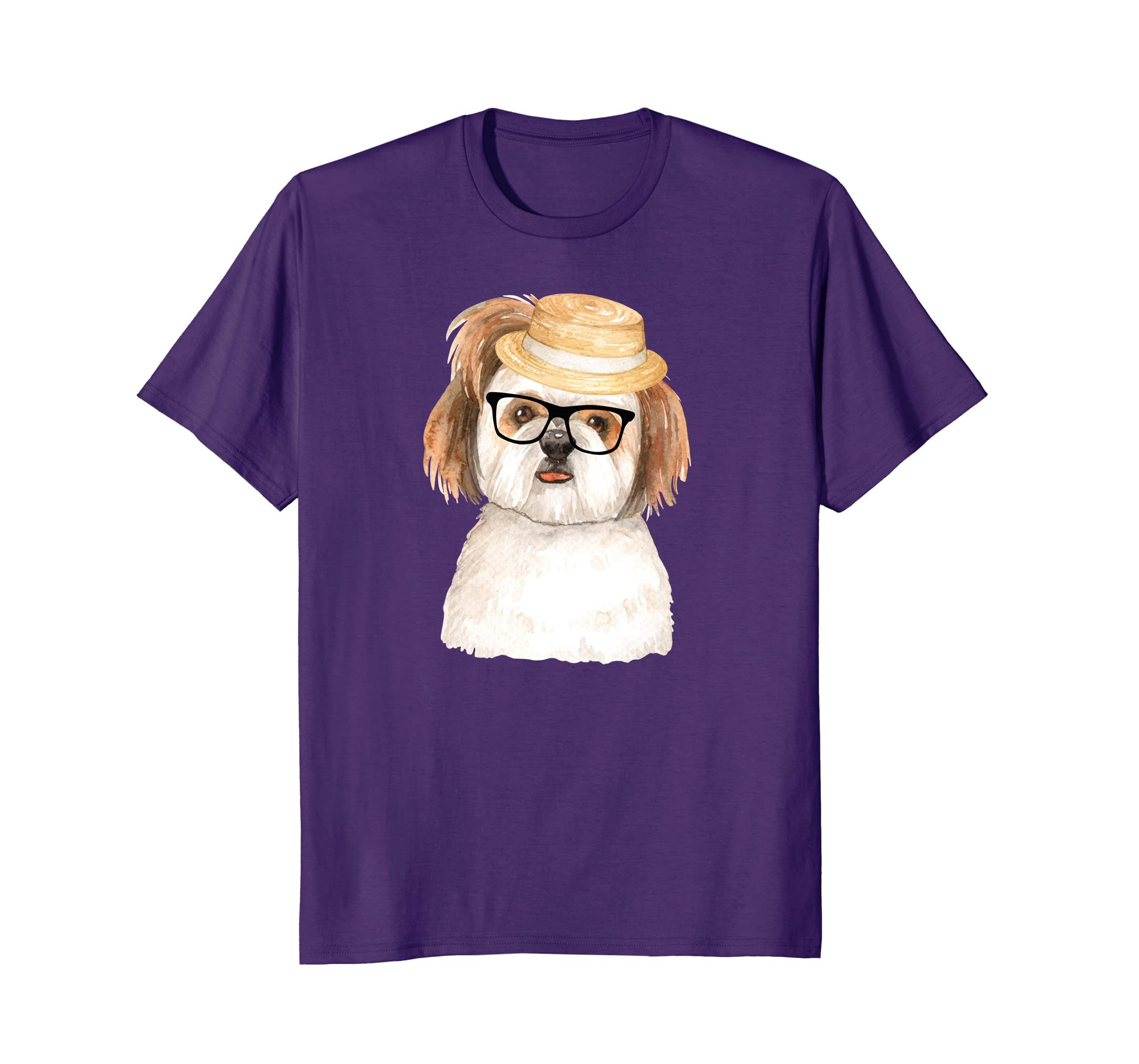 Adorable Shih Tzu Shirt with Hat and Glasses Dog Shirt-ah my shirt one gift