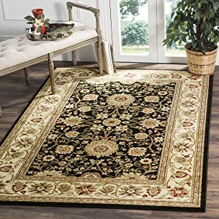 Safavieh Lyndhurst Collection LNH212A Traditional Oriental Black and Ivory Area Rug (3'3