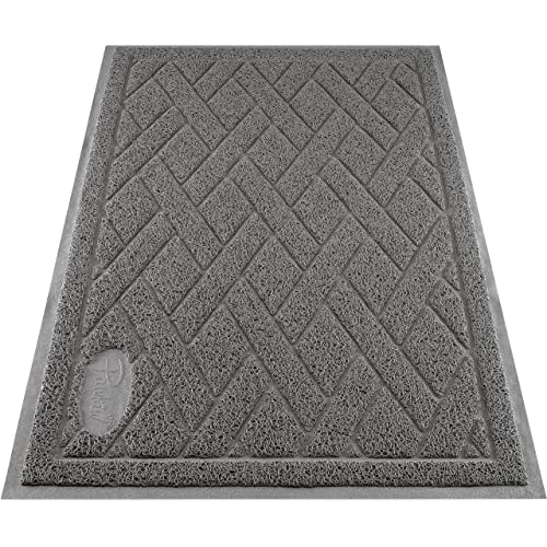 Pawkin Cat Litter Mat, Patented Design with Litter Lock Mesh, Durable, Easy to Clean, Soft, Fits Under Litter Box, Litter Free Floors