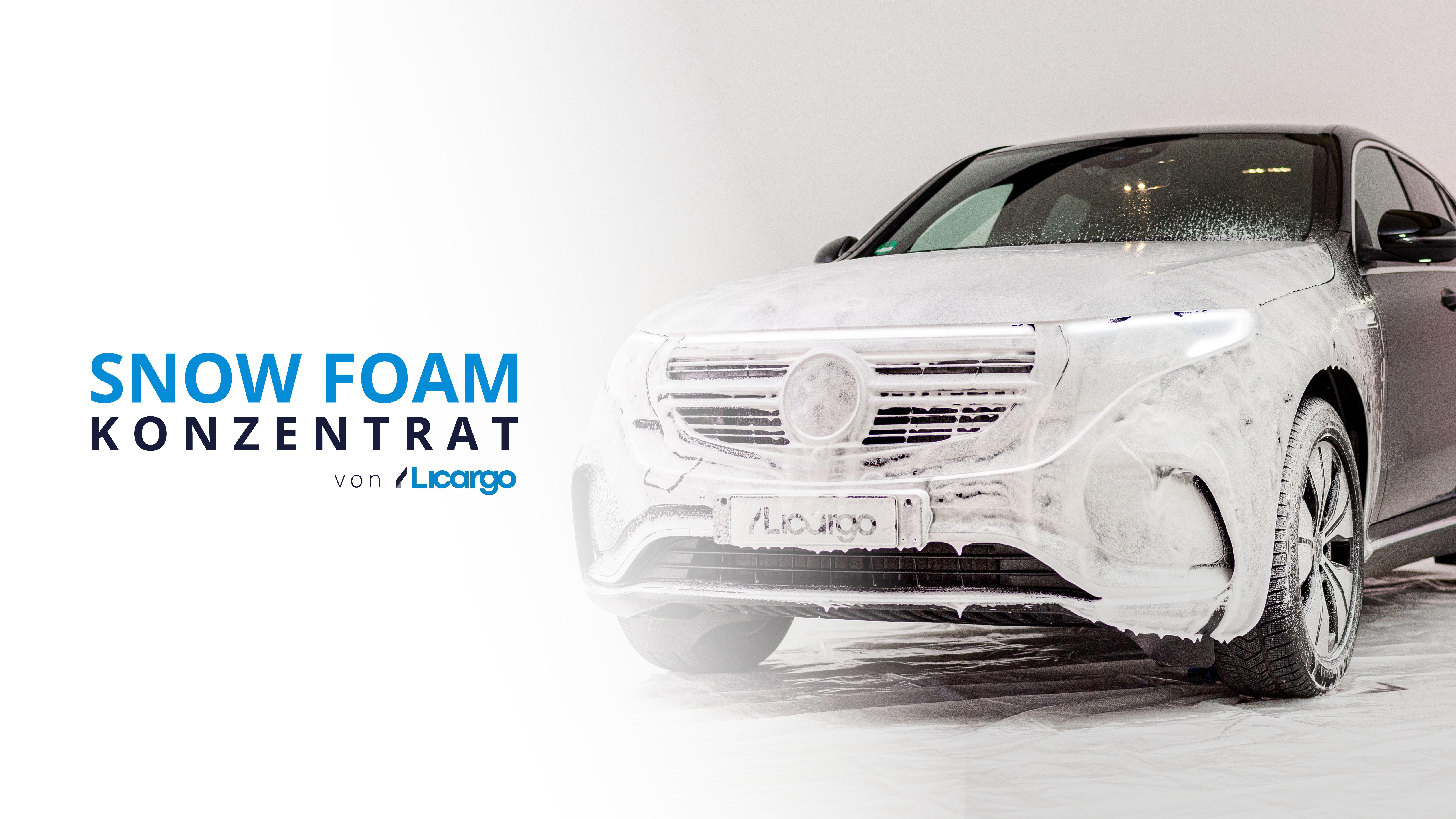 Licargo Premium Snow Foam 750ml Kraftvolle Vorwäsche Mit Dichtem Schaum Entfernt Hartnäckigen Schmutz Gründlich Snow Foam Shampoo Auto Schaumreiniger Autoshampoo Foam Auto