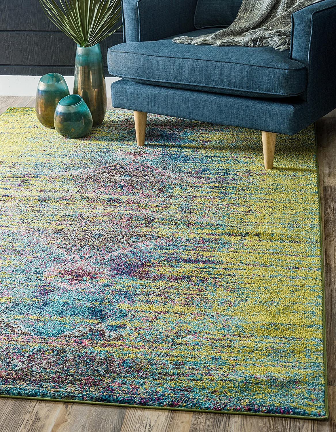 Unique Great interest Loom 3140008 Traditional Over-Dyed Rug Vintage Challenge the lowest price of Japan ☆ x 5 Area