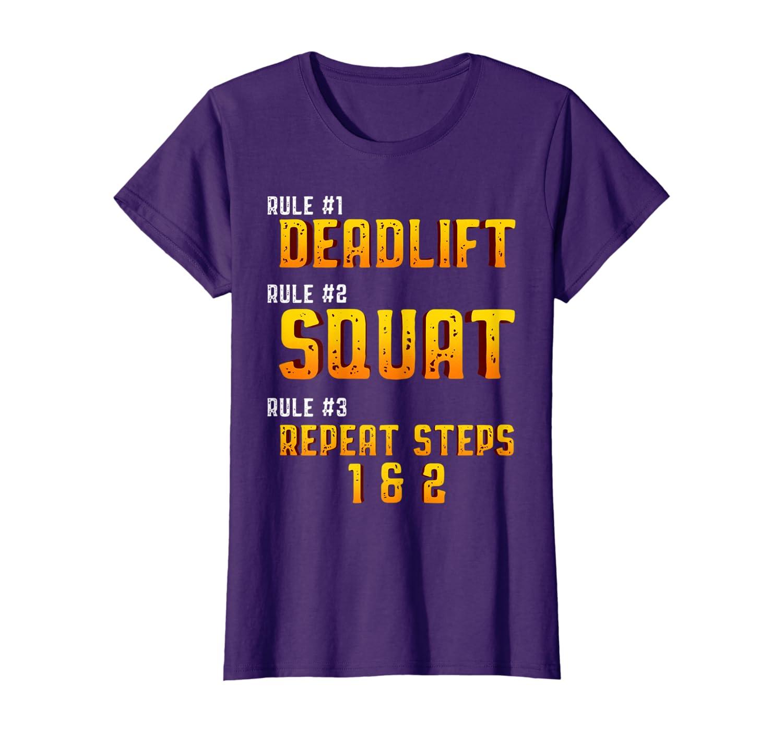 Deadlift Squat Powerlifting  Weightlifting Strongman  T-Shirt