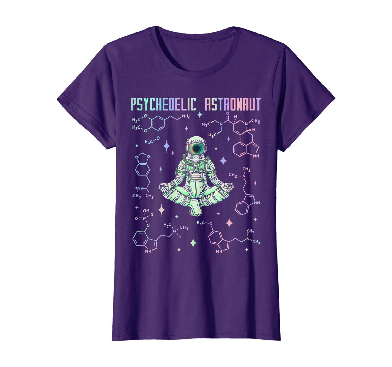 Psychedelic Space Astronaut Psychonaut T-Shirt Women