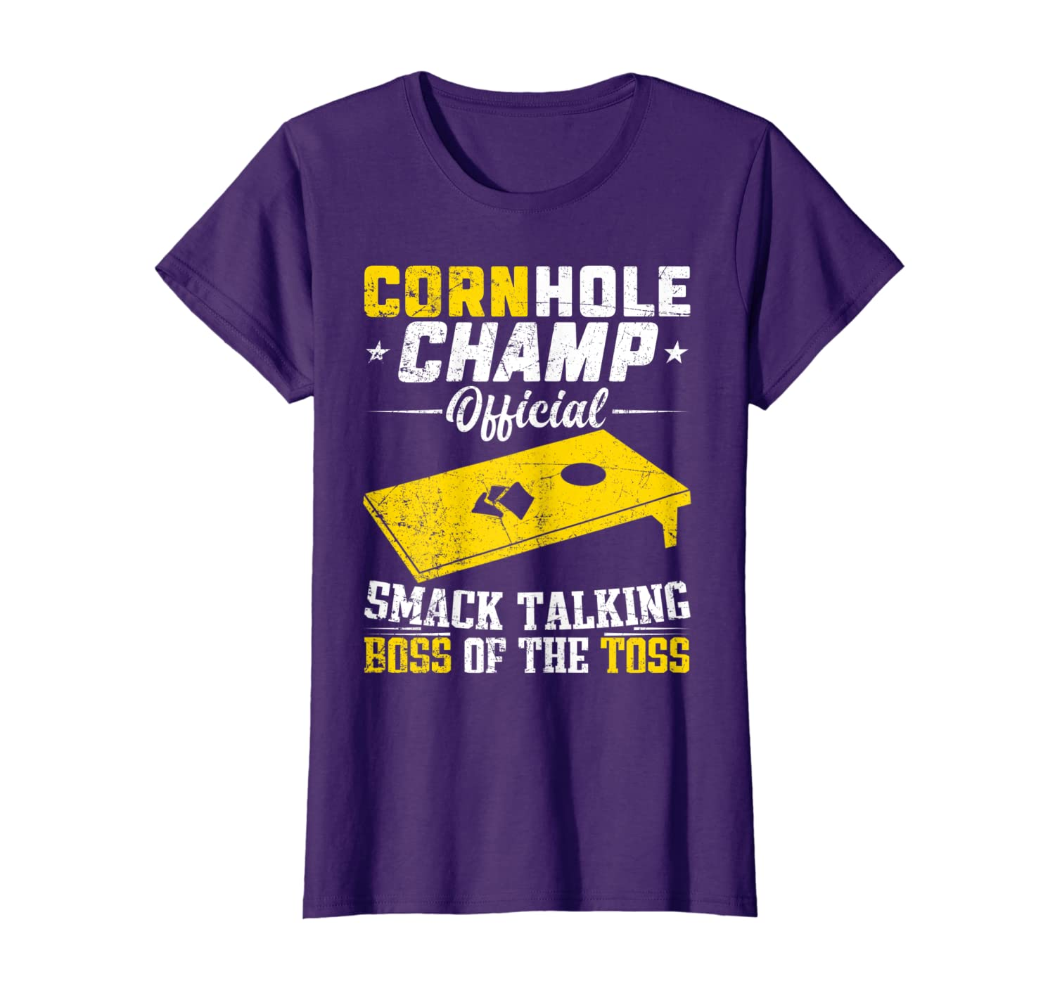Cornhole Champion Gift Corn Hole Toss Boss Smack Talking T-Shirt