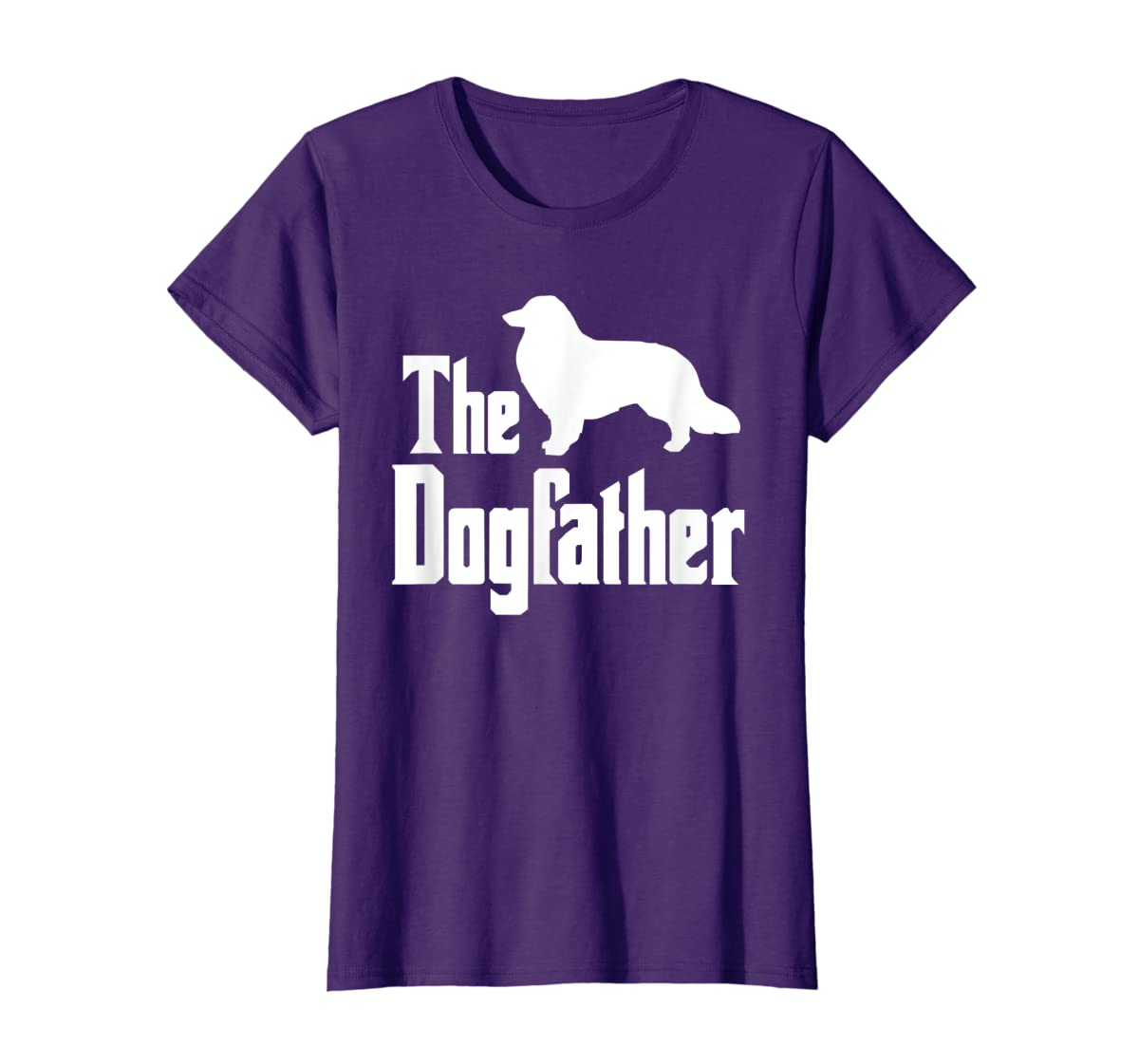 The Dogfather - funny Rough Collie T-Shirt, funny dog gift-Women's T-Shirt-Purple