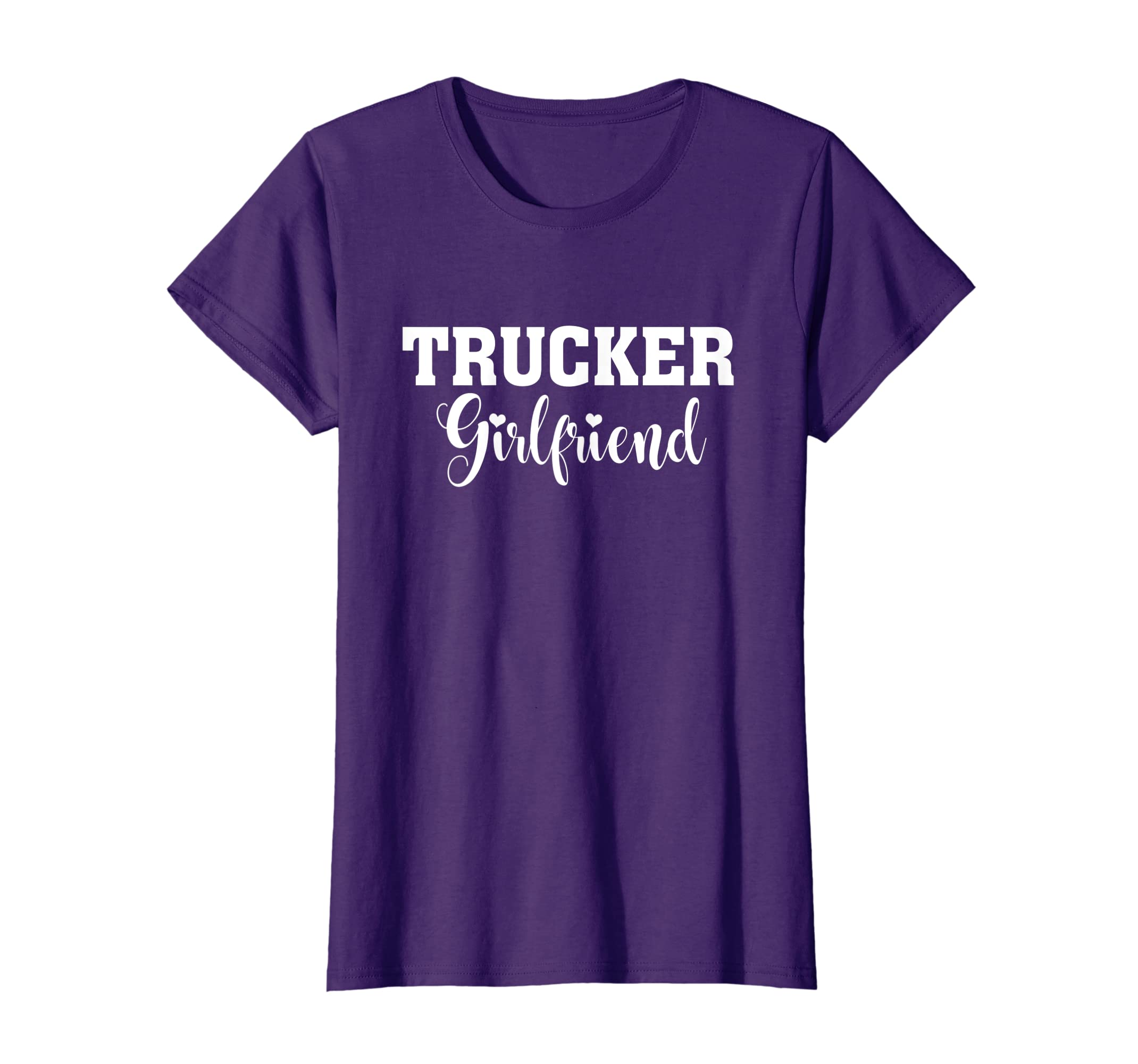 a0e8a661d02 Amazon.com  Womens Trucker Shirt Cool gift for Girlfriend wife Trucker T- Shirt  Clothing