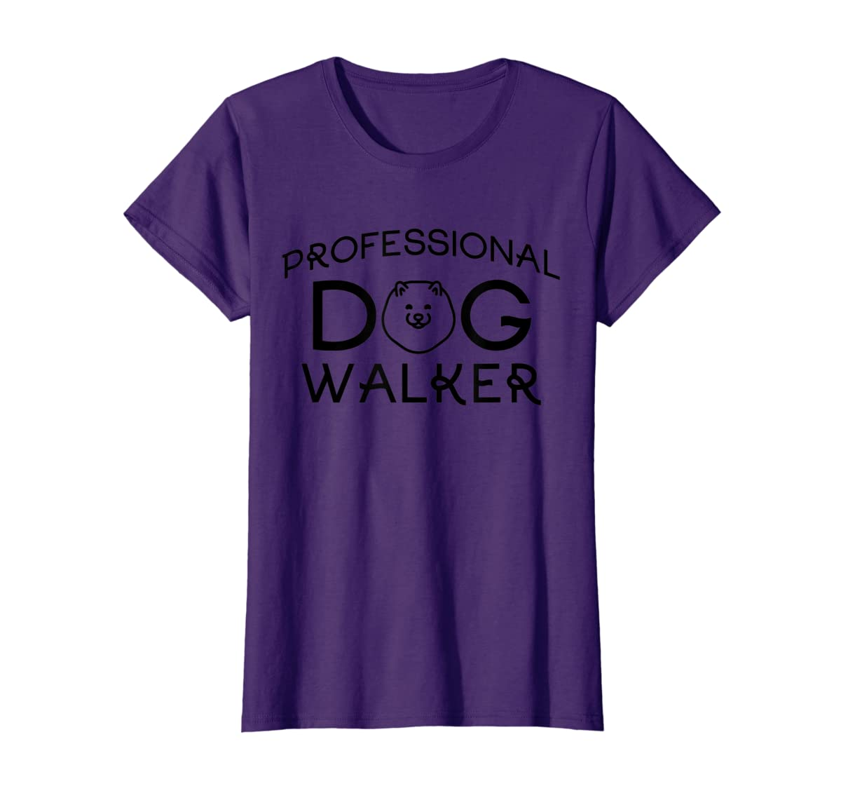 Professional Dog Walker Cute Puppy Tshirt Pet Lover T-Shirt-Women's T-Shirt-Purple