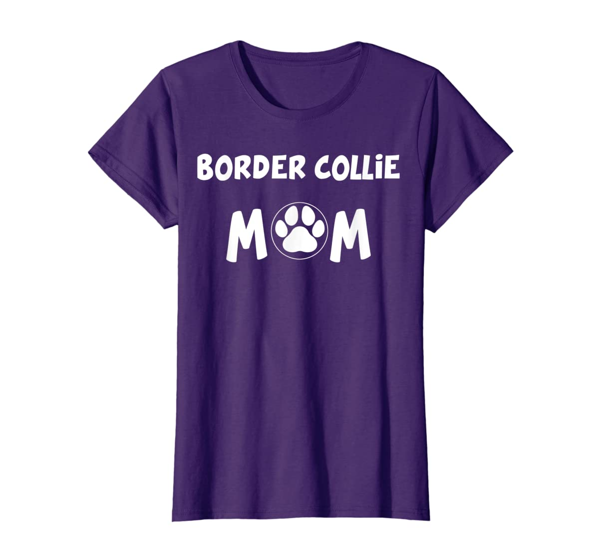 Perfect Dog Mother Gift   Border Collie Mom T-Shirt-Women's T-Shirt-Purple