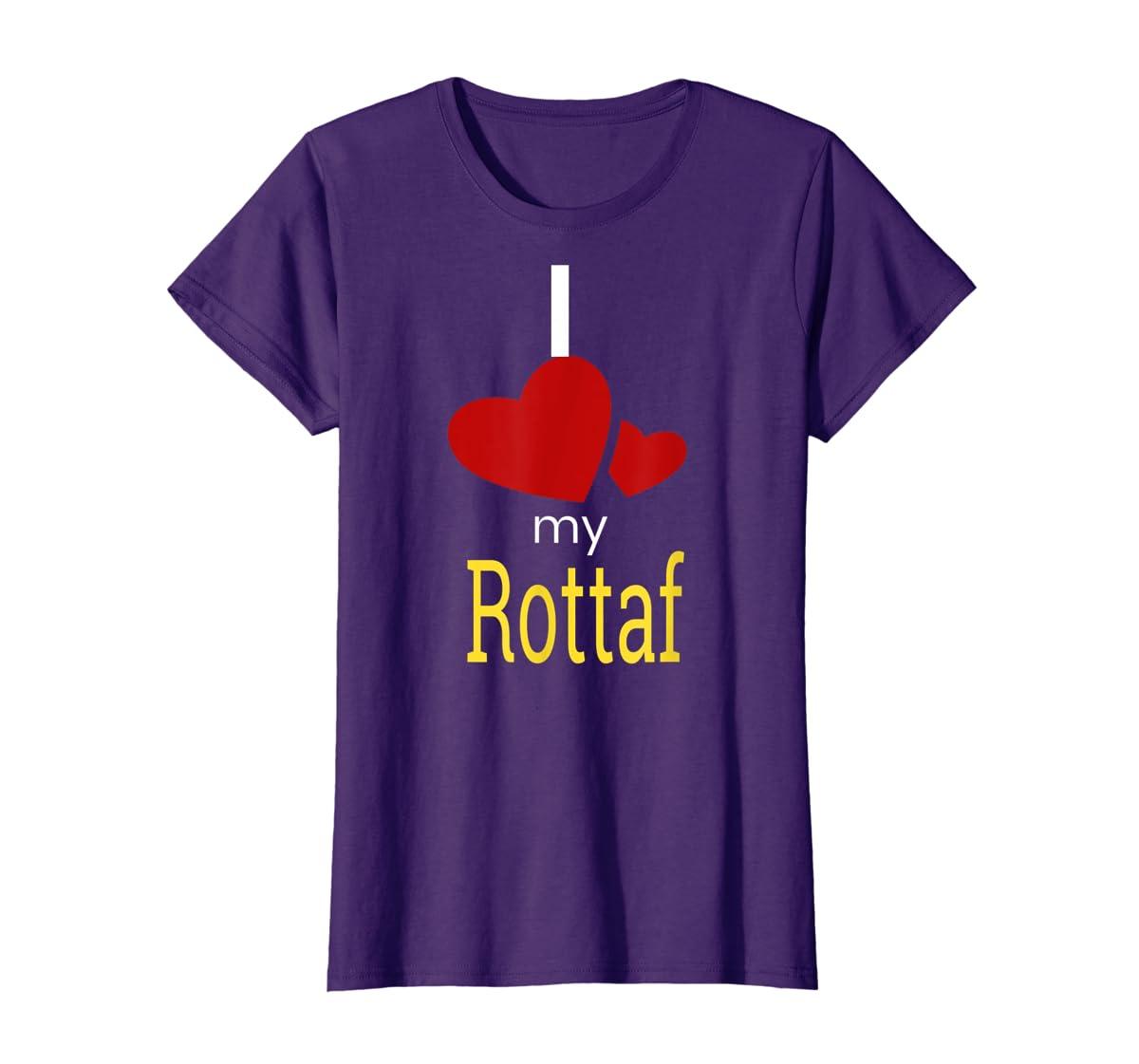 Rottaf Dog Shirt Love Rottweiler + Afghan Hound =  T-Shirt-Women's T-Shirt-Purple