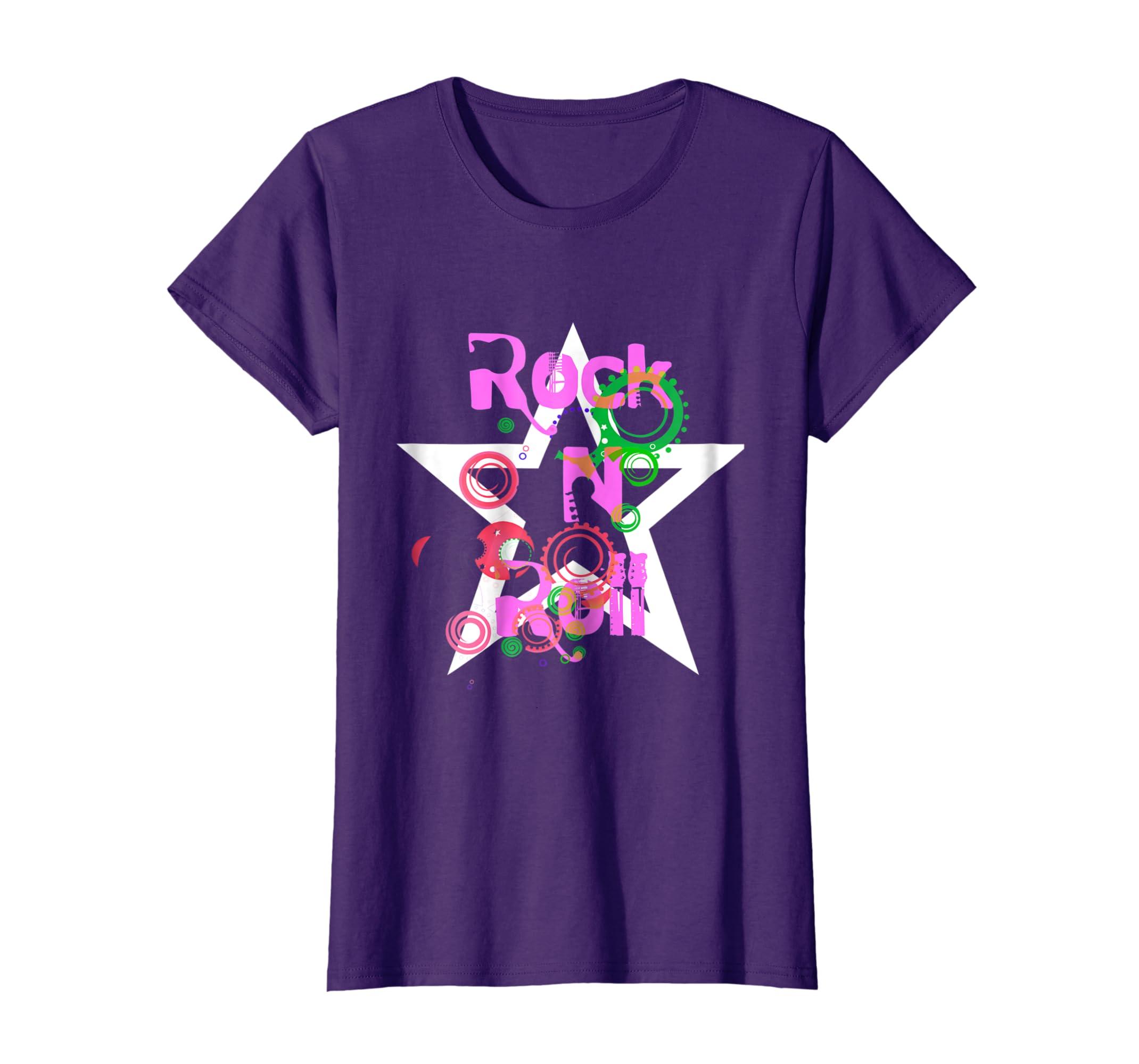 59c7fe9e872 Amazon.com  Vintage Nostalgic Rock Art Music Rock N Roll T-Shirt  Clothing